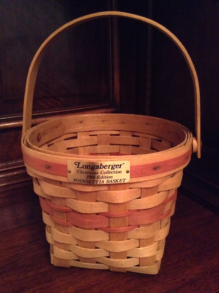 1988 Longaberger Poinsettia Basket