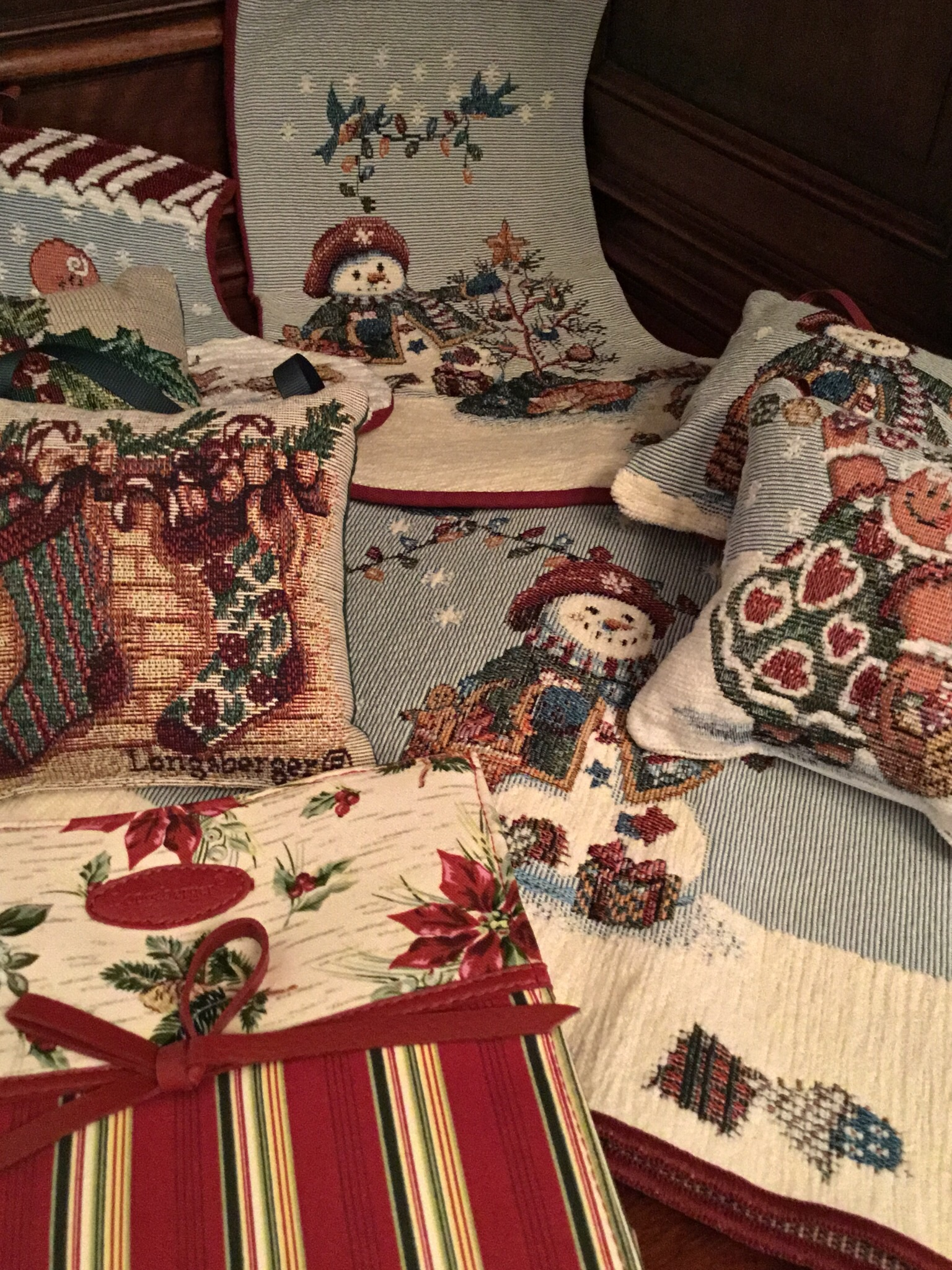 Longaberger Holiday Collection, 8 Pieces