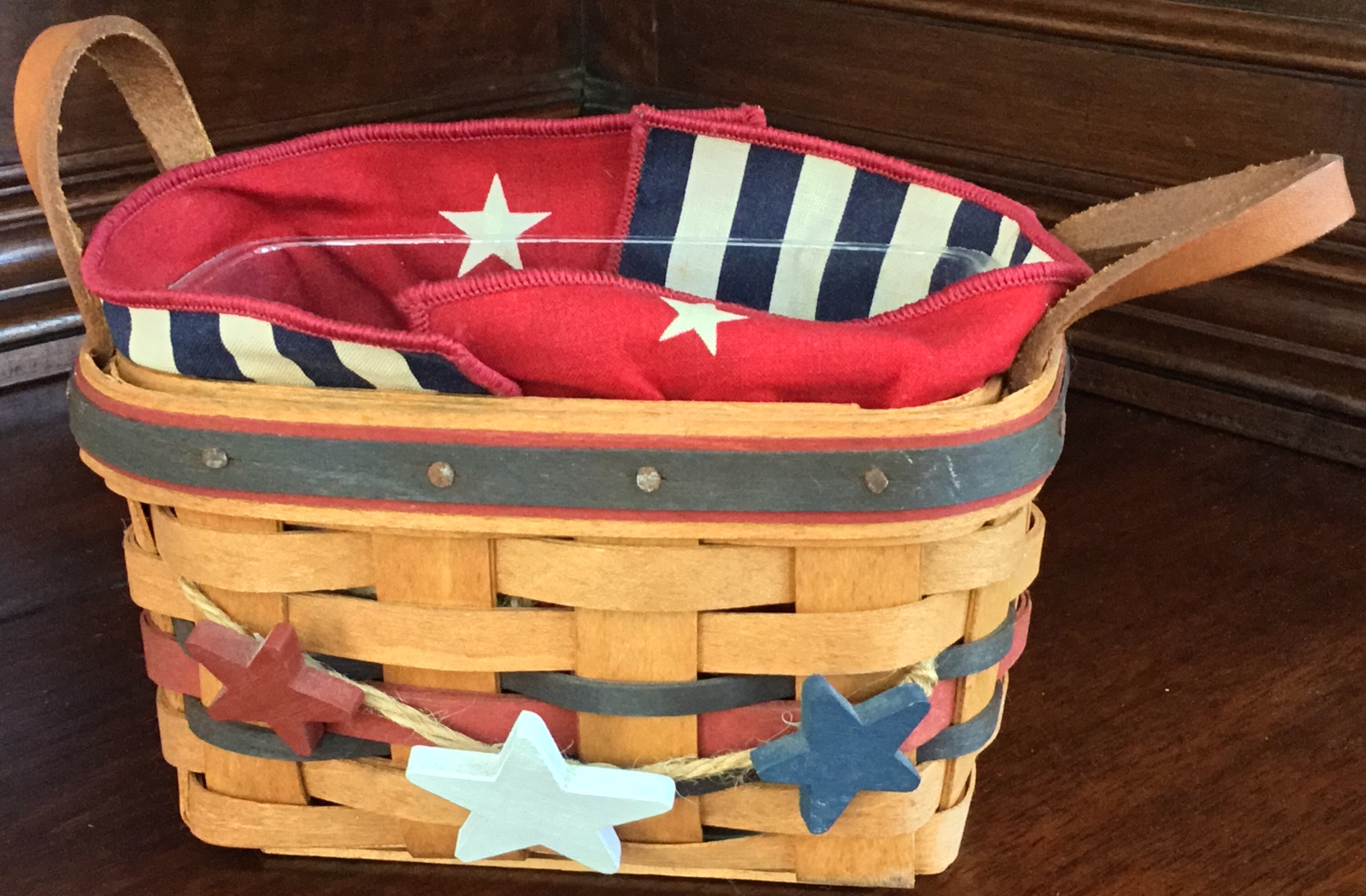 1993 Longaberger Basket with Stars