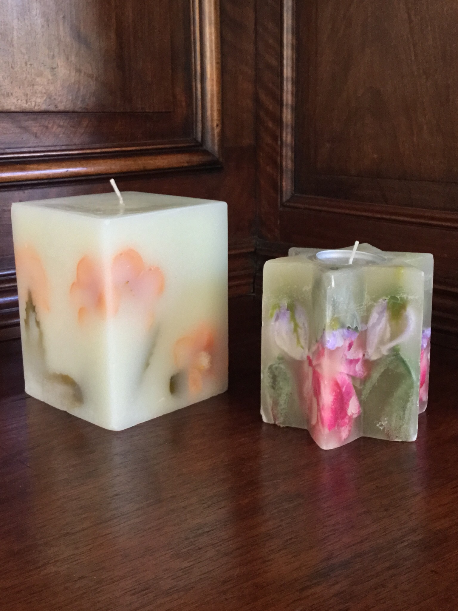"""Flower"" Candles, Set of 2"
