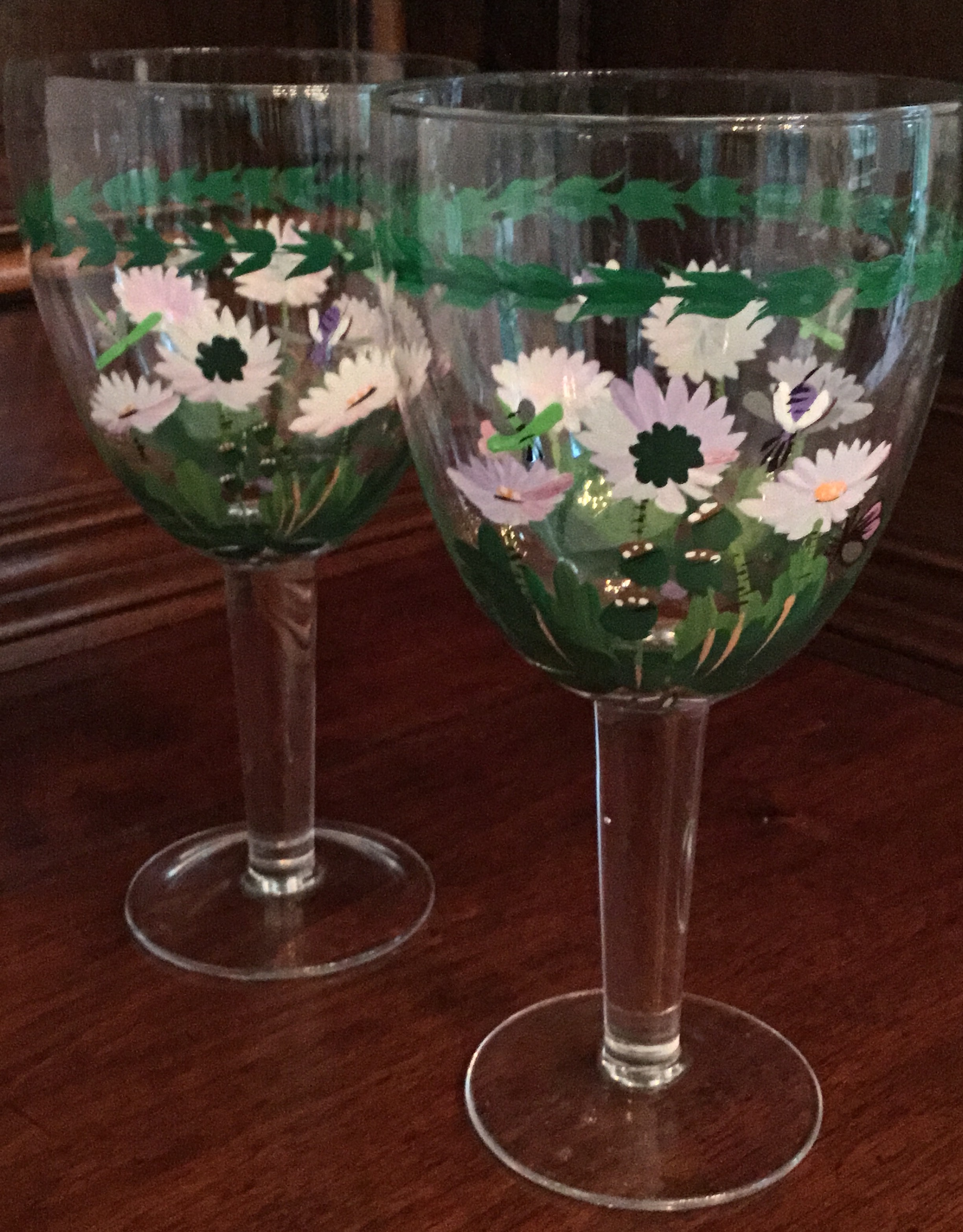 "Portmeirion Botanic Garden ""White Daisies"" Water Glasses, Set of 2"