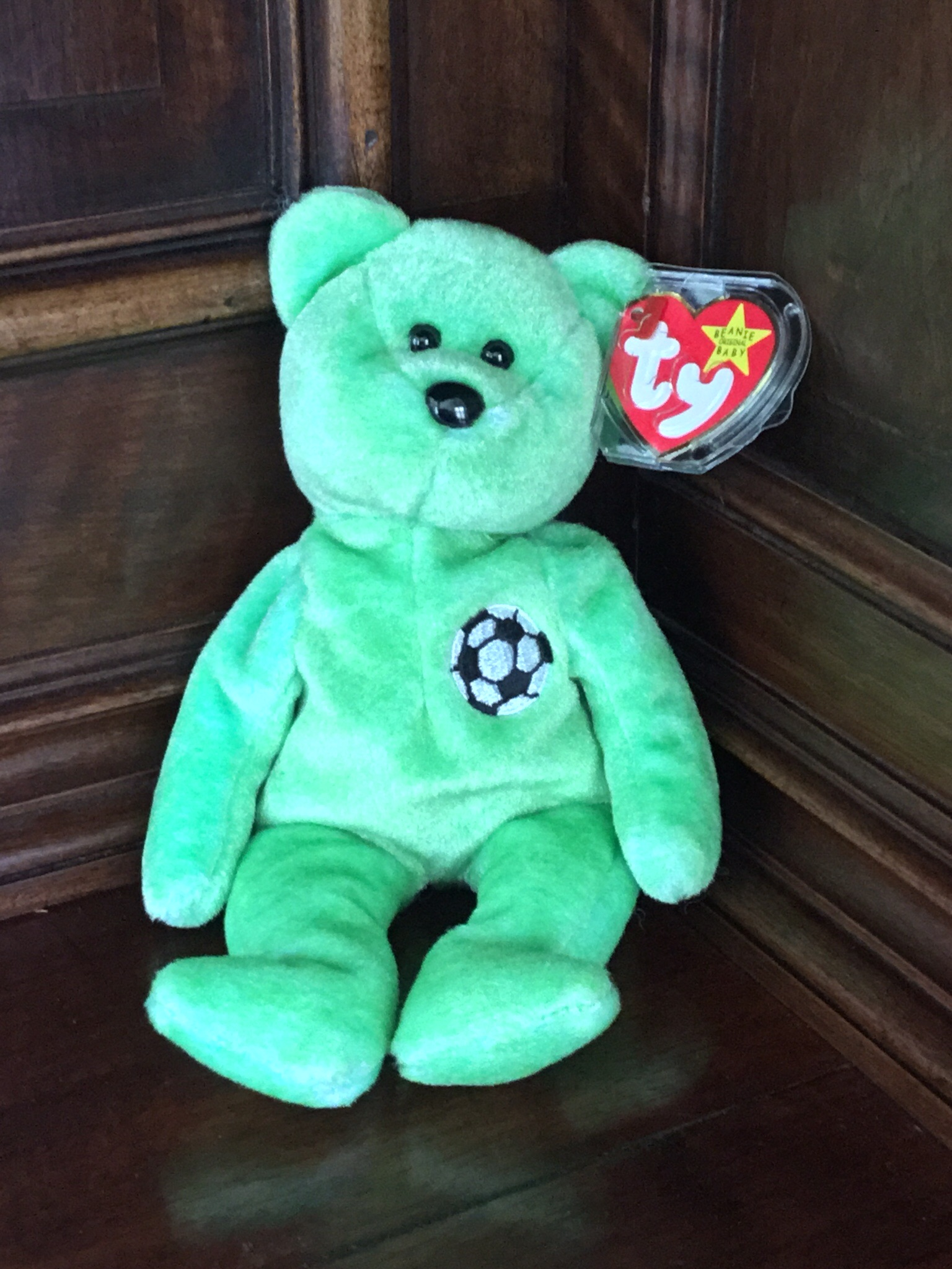 Beanie Baby, Green Soccer Player