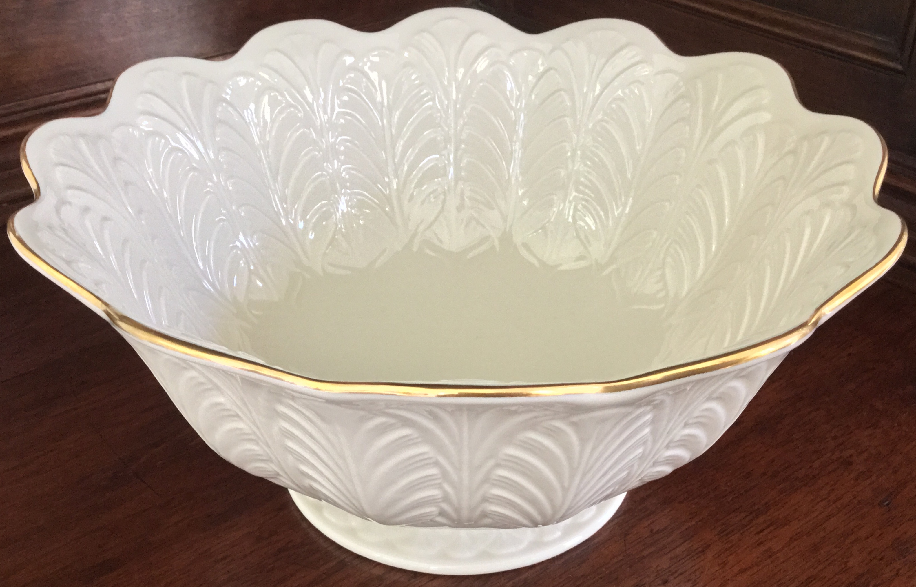 "Lenox ""Feathered"" Bowl"