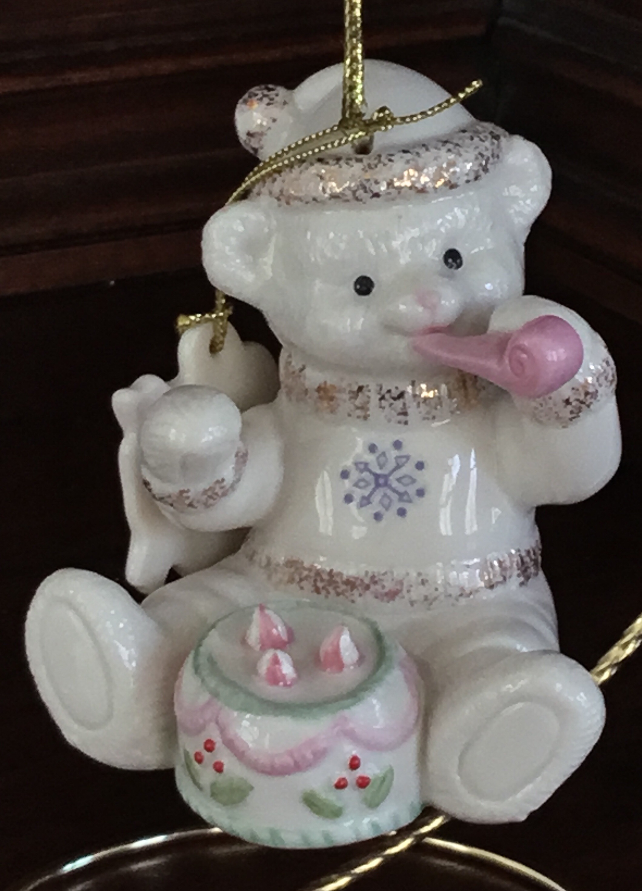 Lenox Teddy's Celebration Ornament