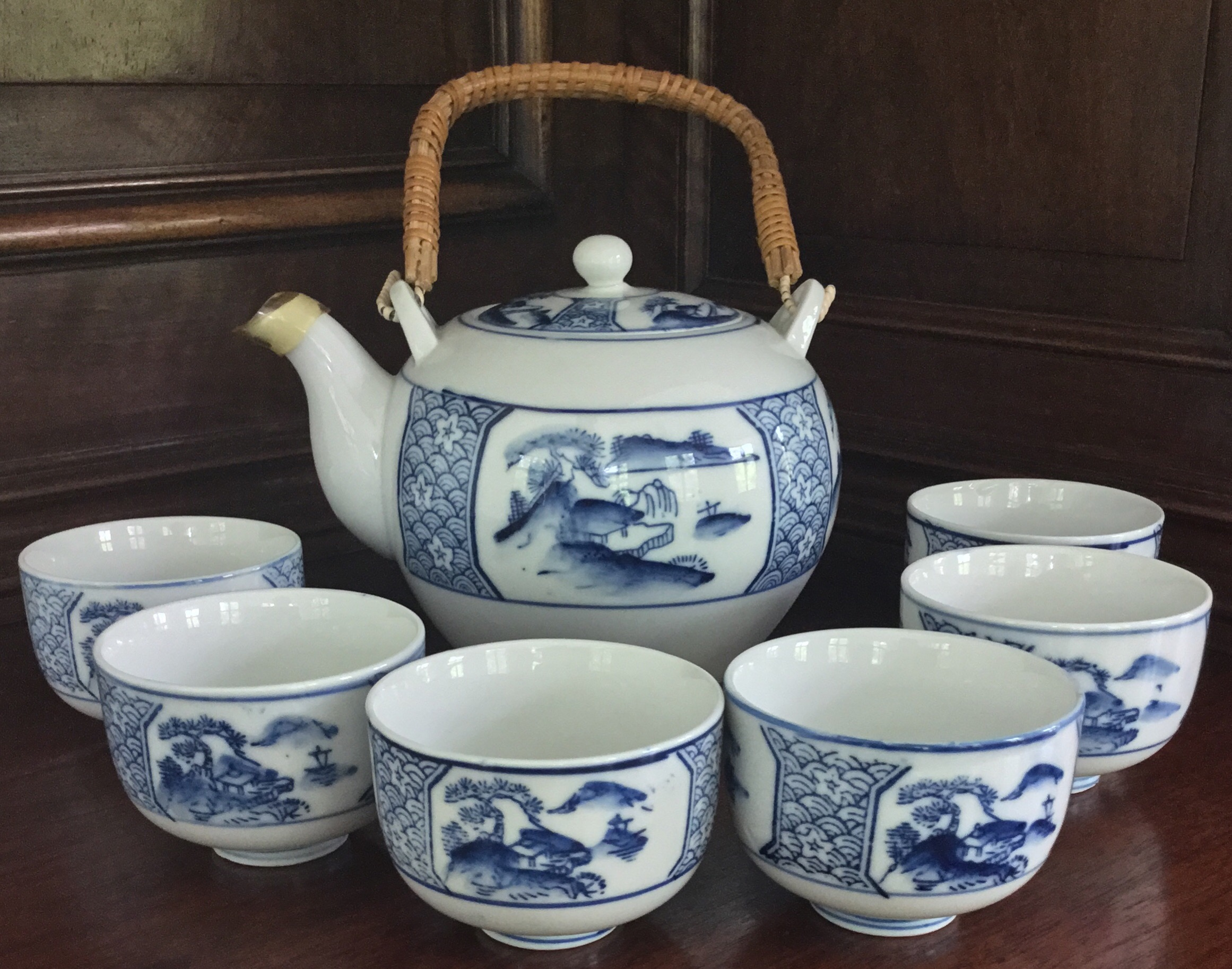Decorative Teapot and Cups