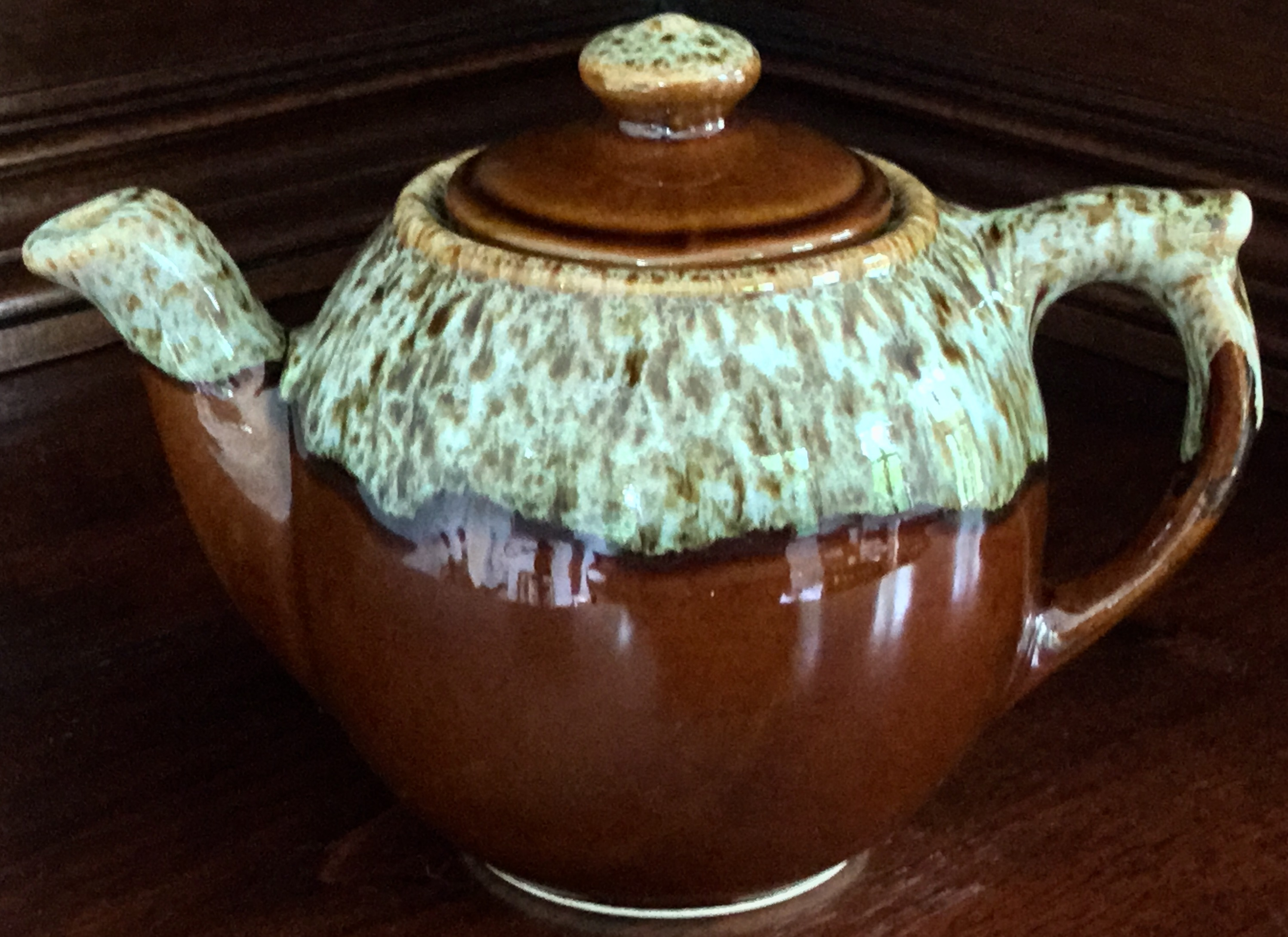 Brown Glazed Teapot