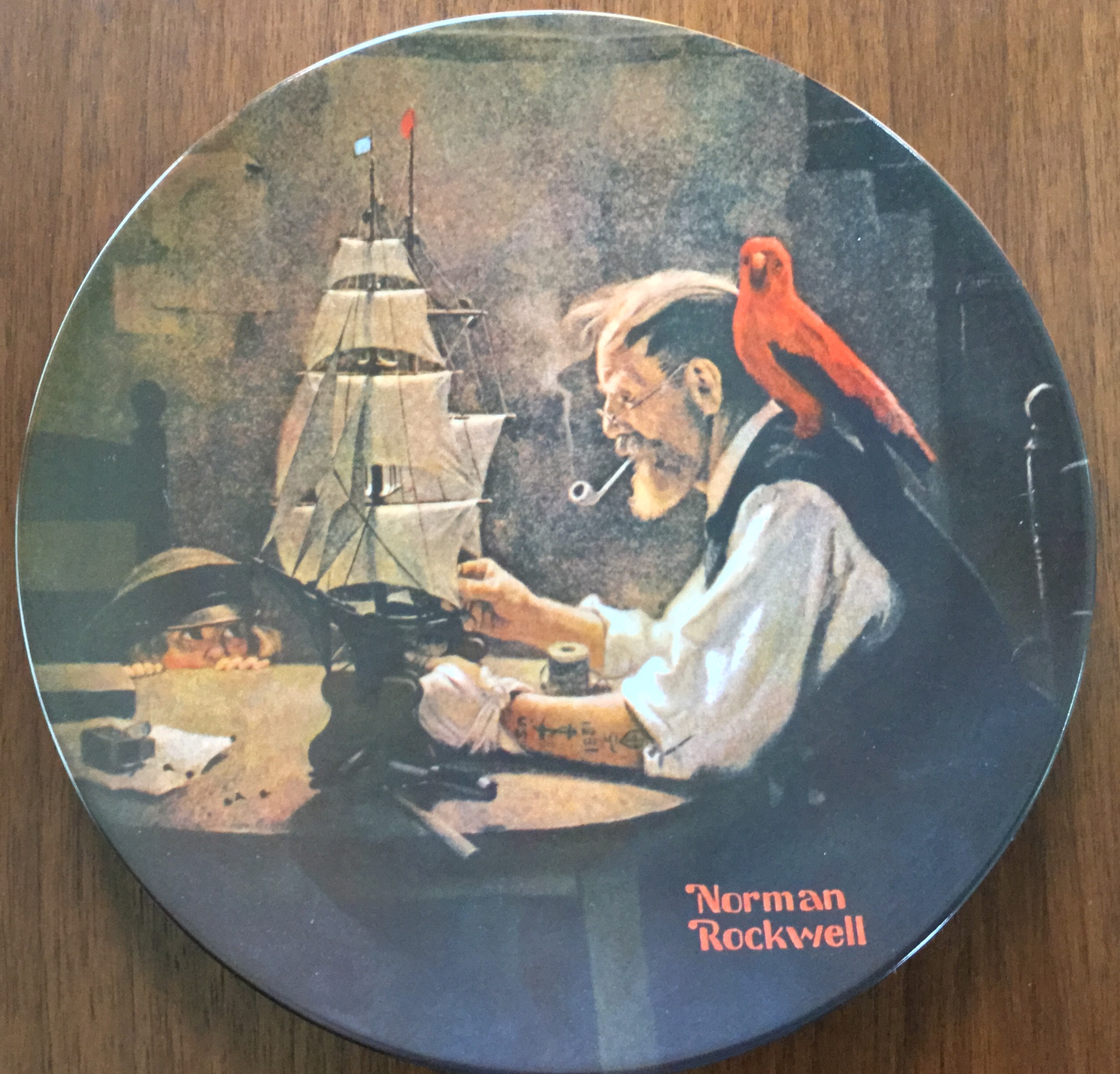 Knowles Plate, The Ship Builder by Norman Rockwell