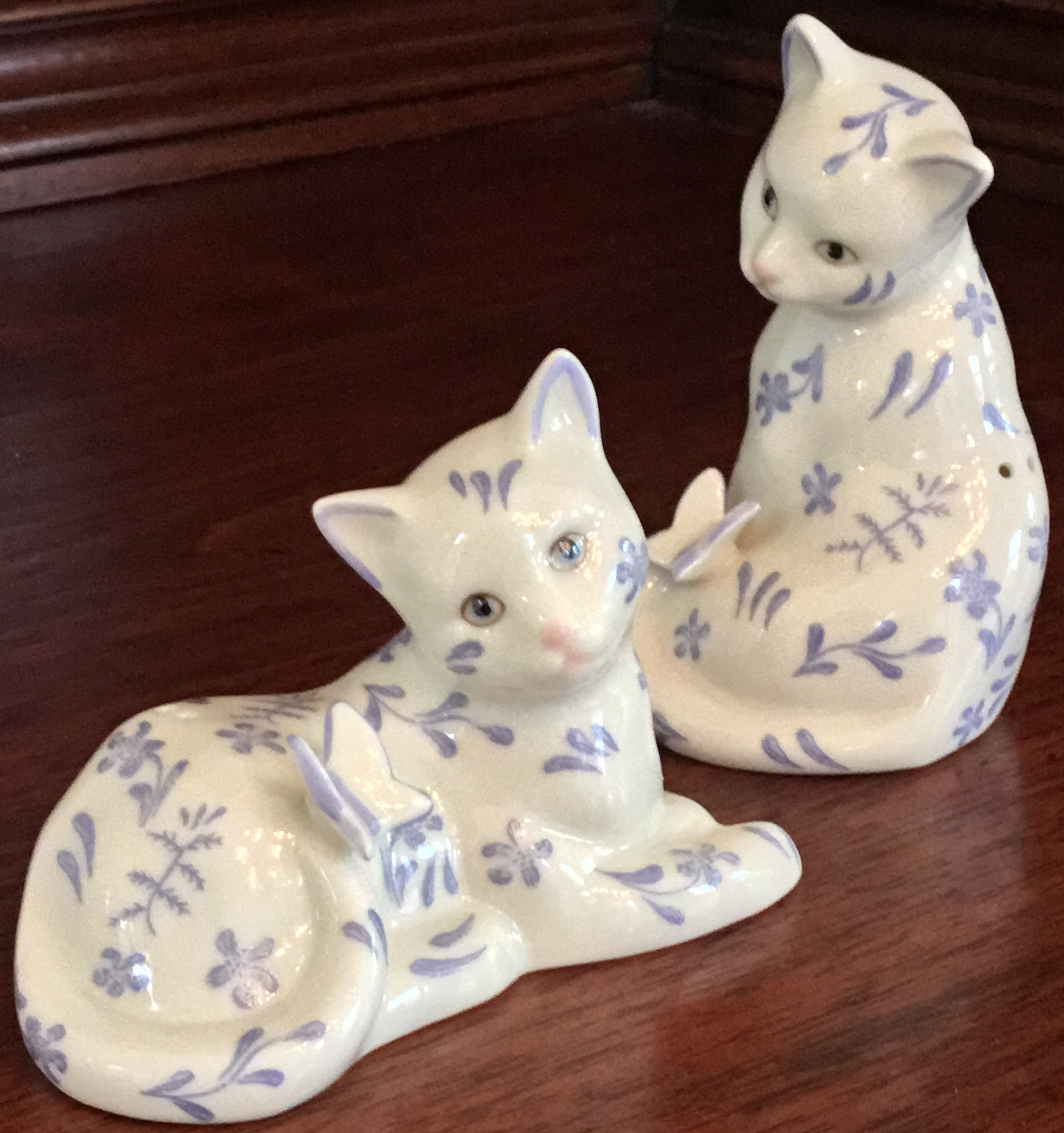 Lenox Floral Cat Salt & Pepper Set