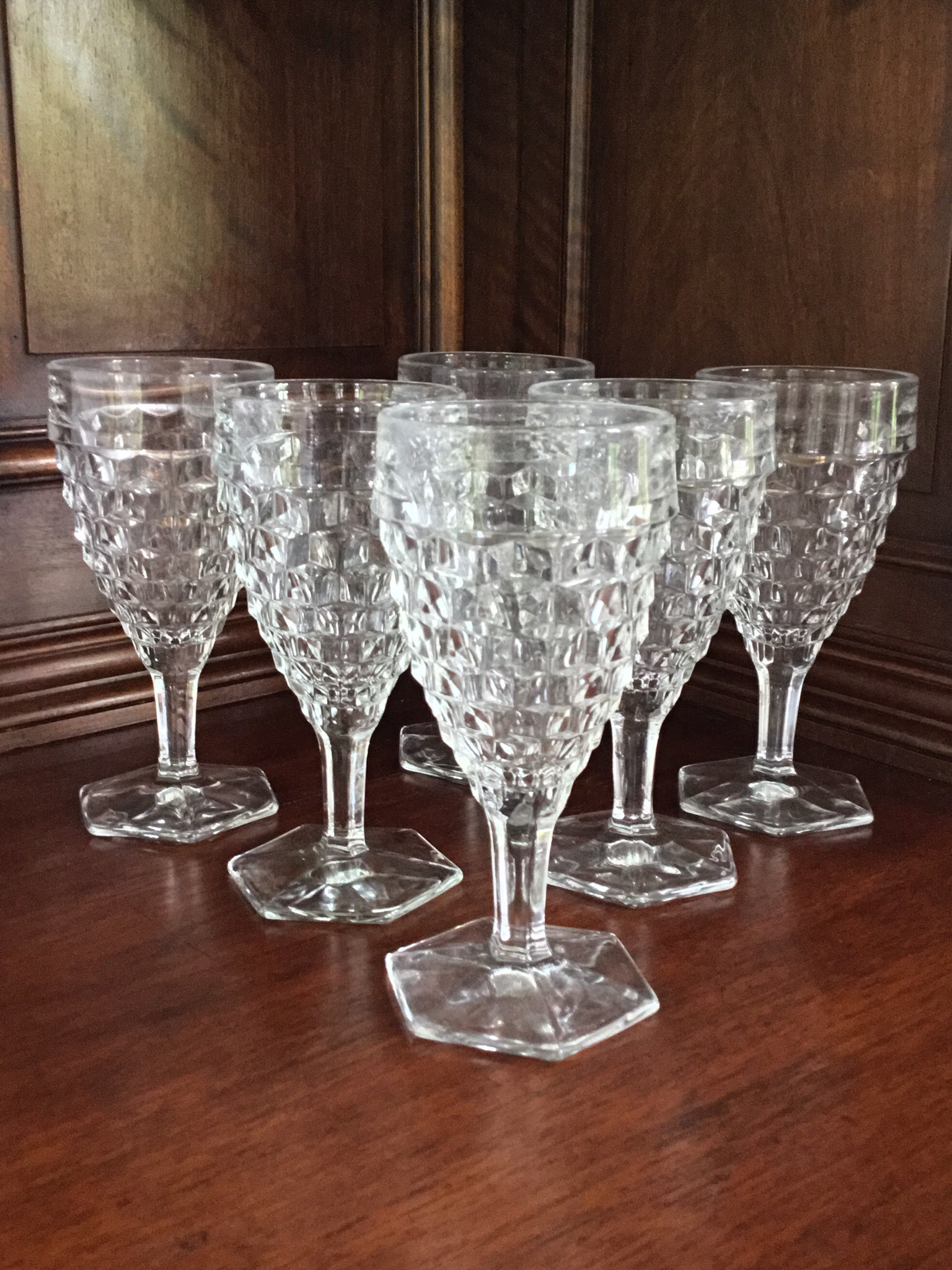 Fostoria Water Goblets, Set of 6