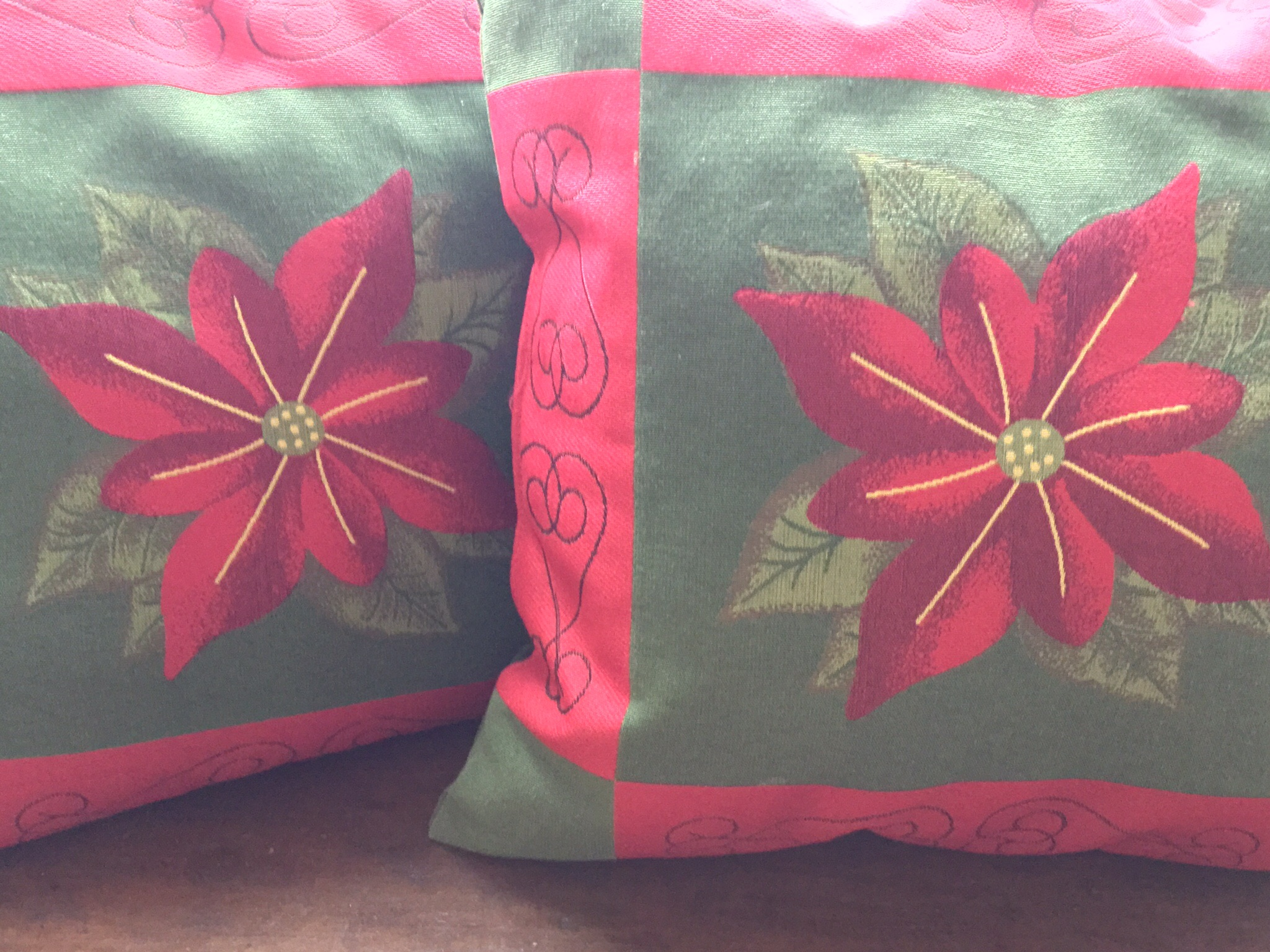 Poinsettia Pillows, Set of 2