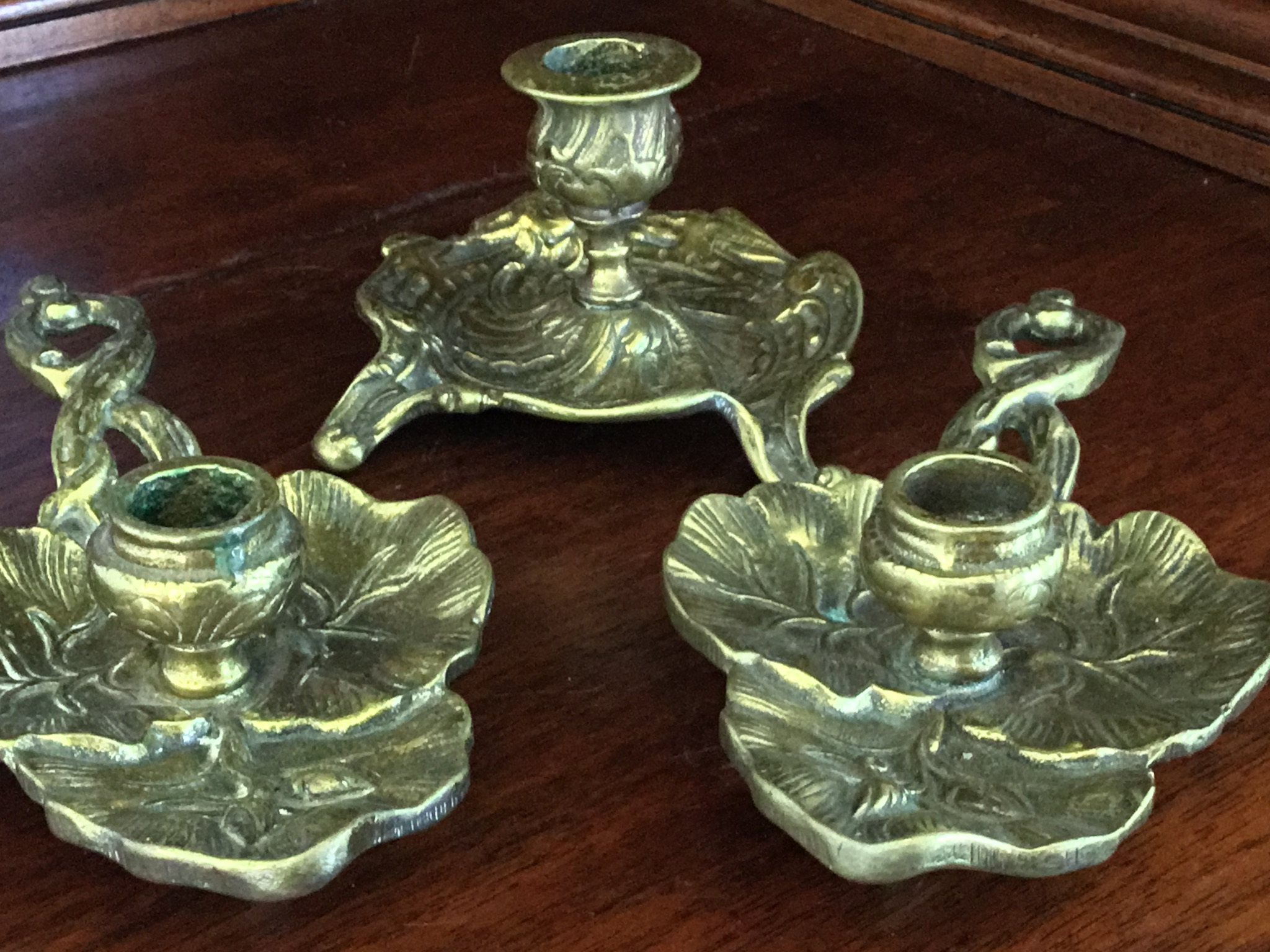 Metal Candlestick Holders, Set of 3
