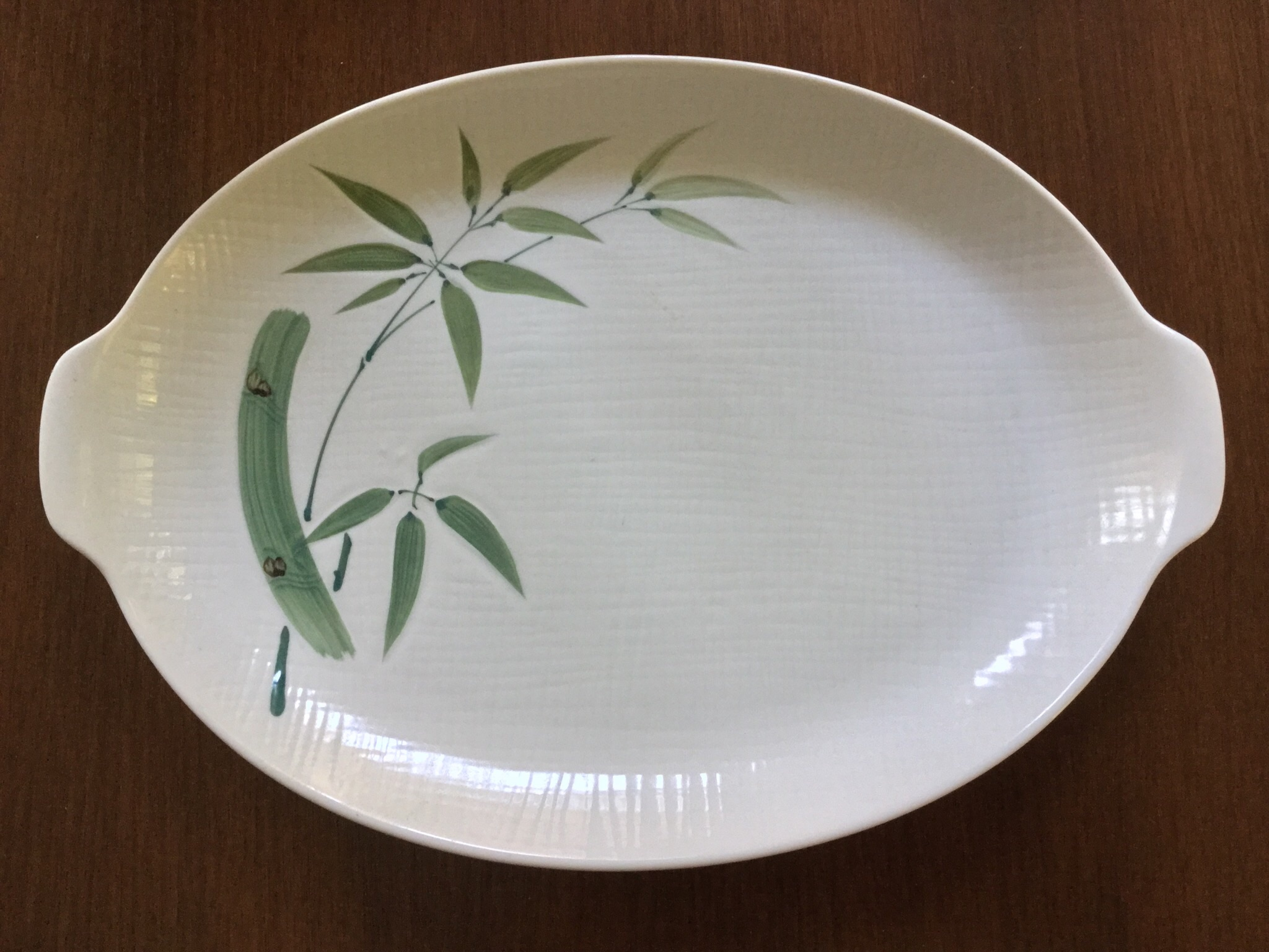 Hand Painted Bamboo Serving Tray
