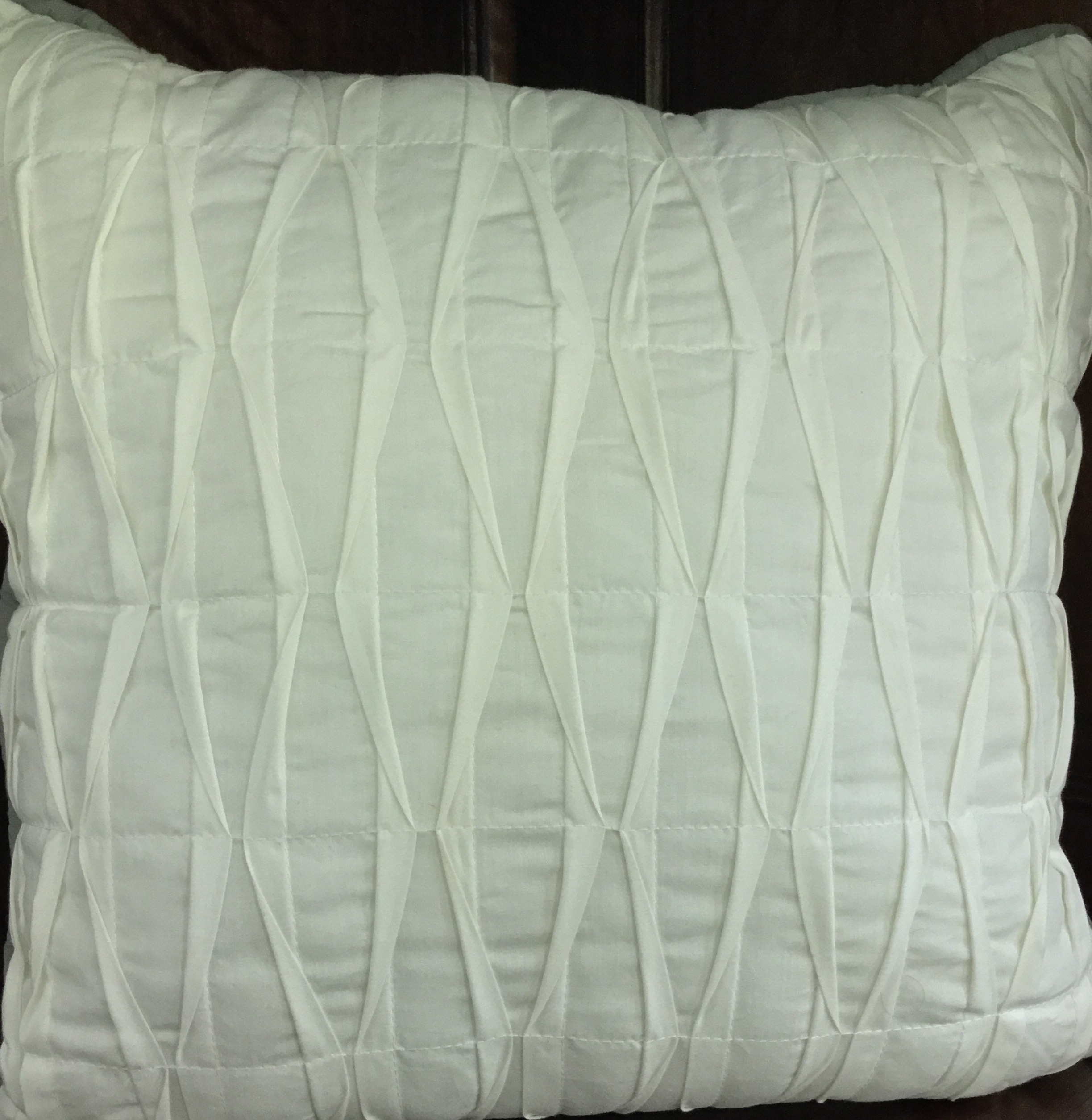 Off-White Pillow with Banding