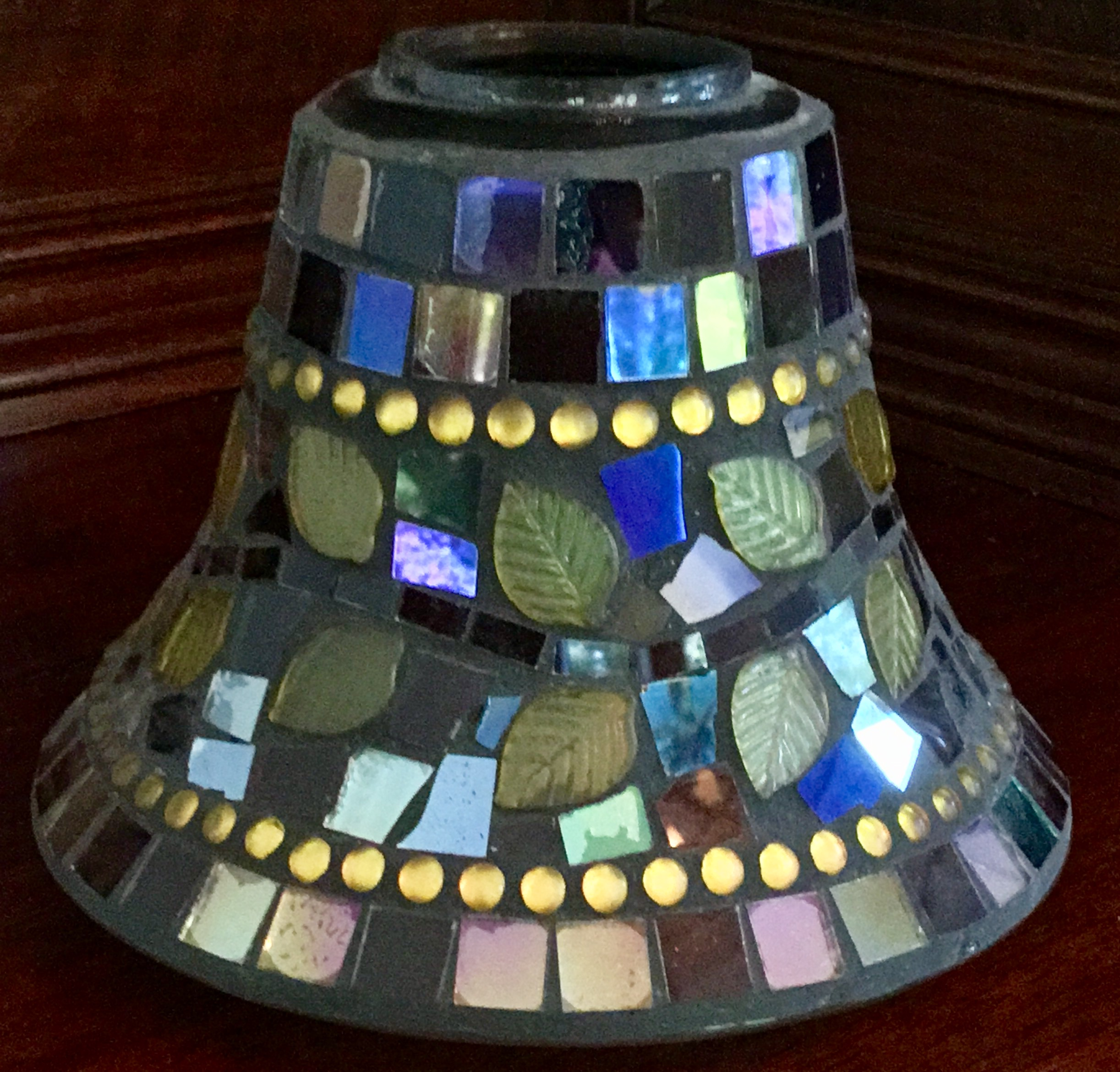 Yankee Candle Mosaic Leaves Candle Shade
