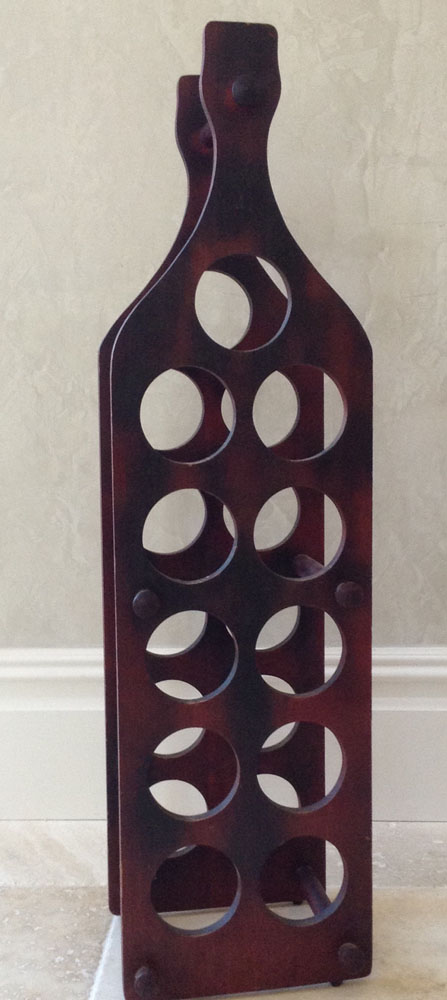 Wine wine rack - Wine rack shaped like wine bottle ...