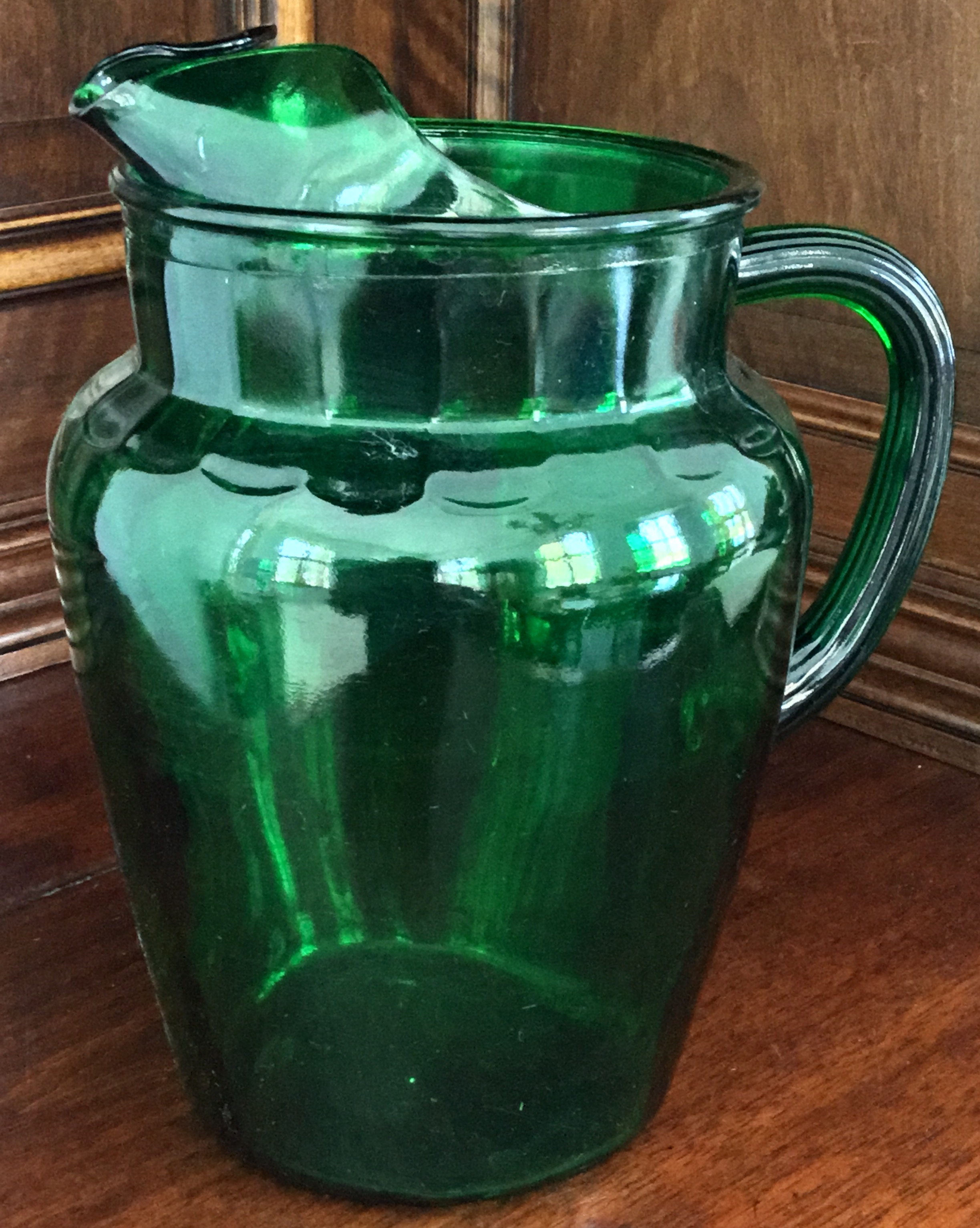 Forest Green Pitcher