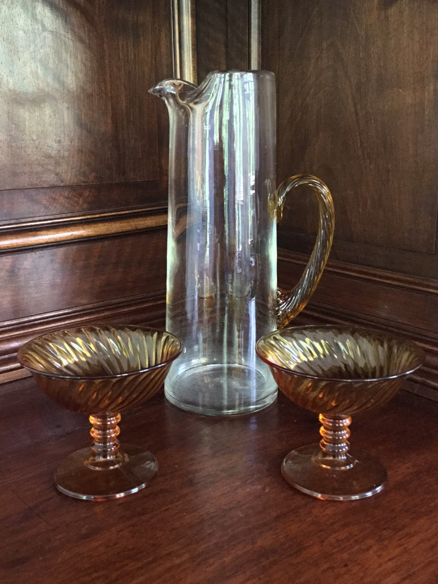 Martini Pitcher with Glasses, 3 Pieces