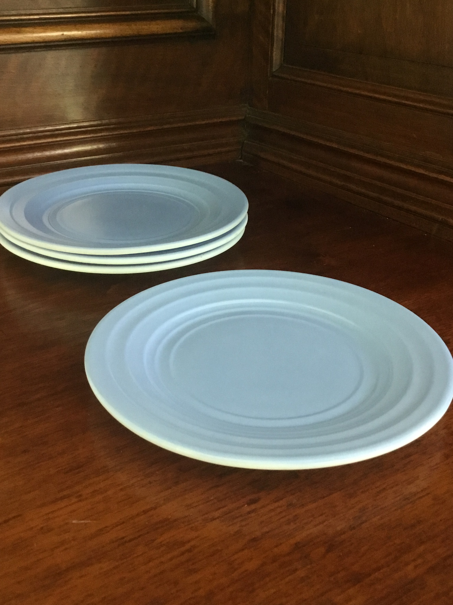 Moderntone Pastel Blue Bread and Butter Plates, Set of 4