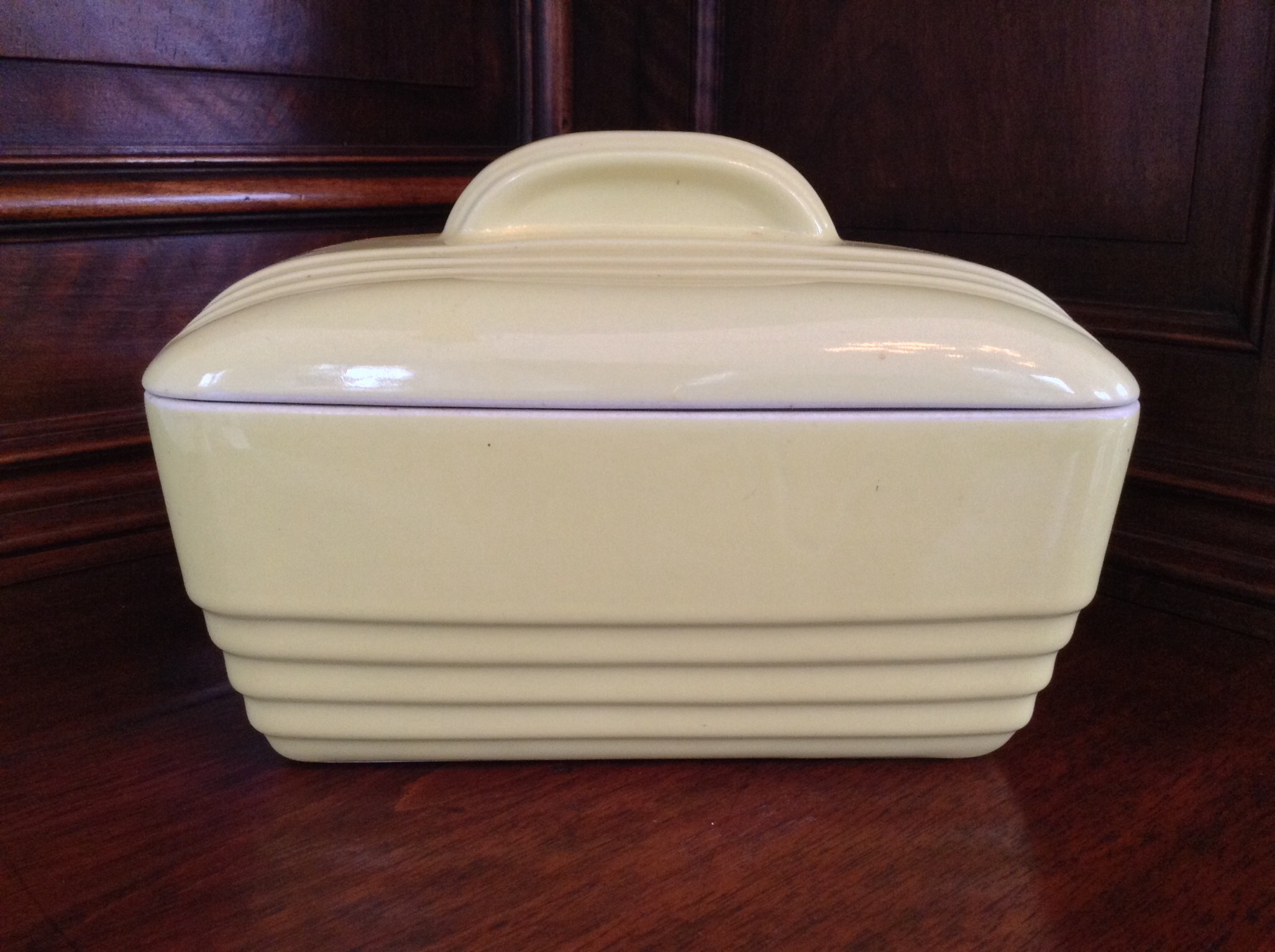 Hall Yellow Lidded Container