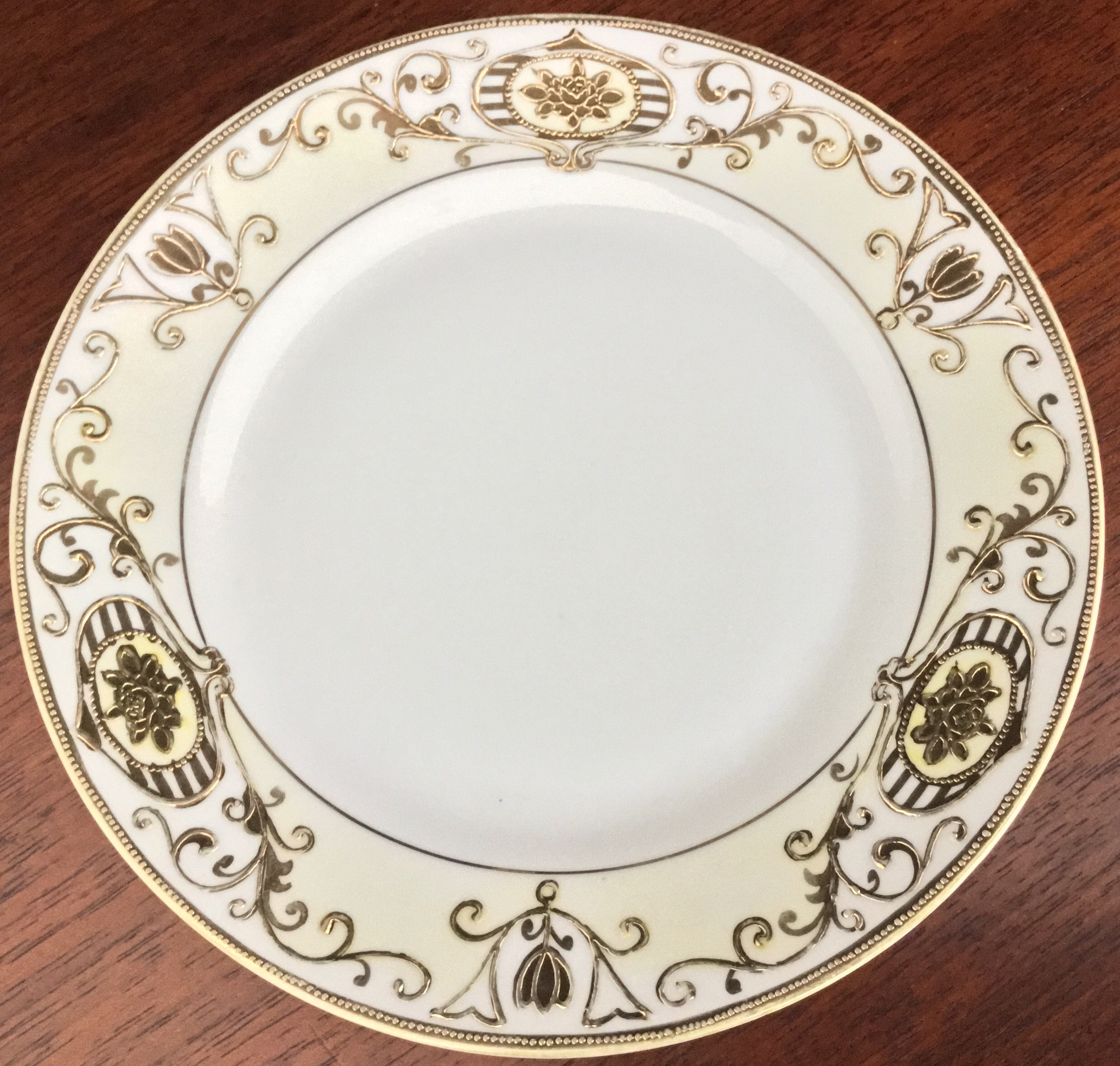 Hand Painted Noritake Bread Plate