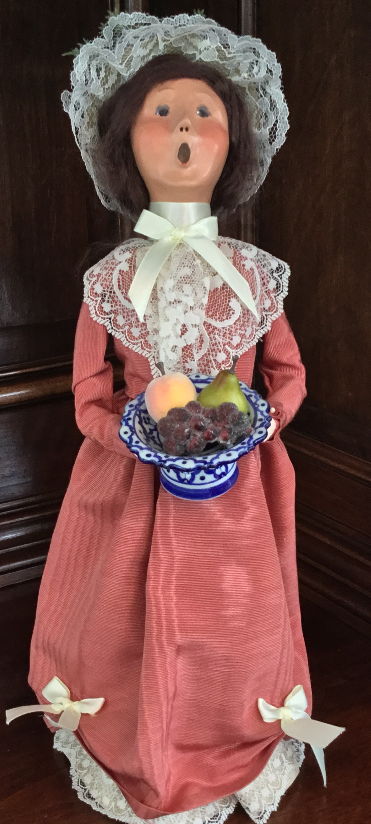 Byers' Choice, Woman with Fruit Bowl