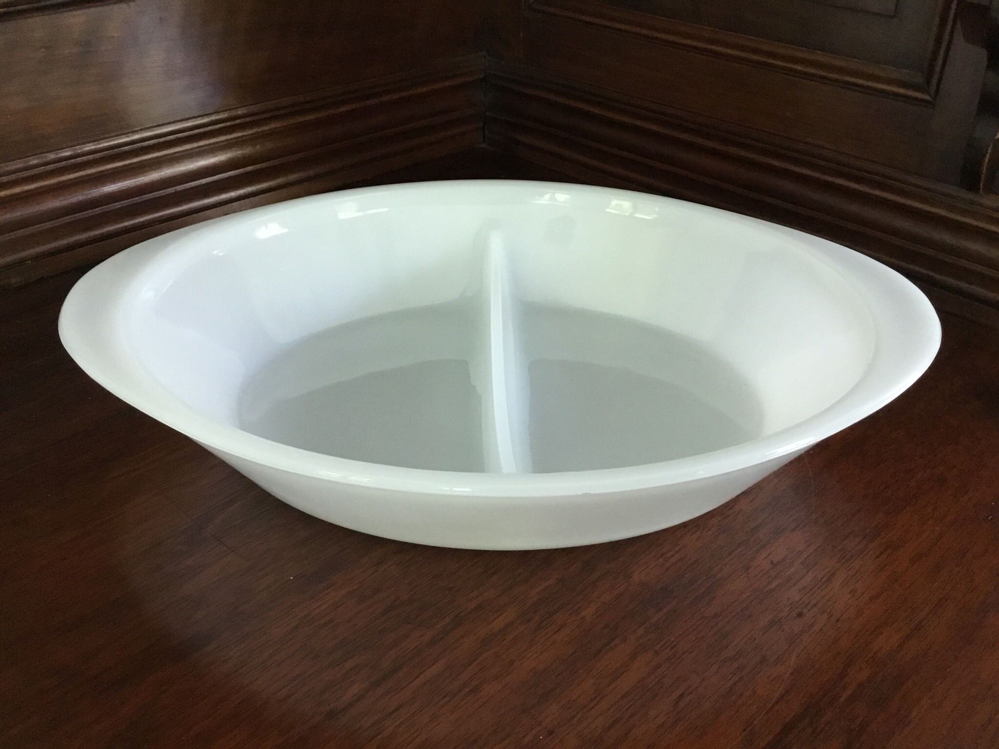 Glasbake Divided Bowl