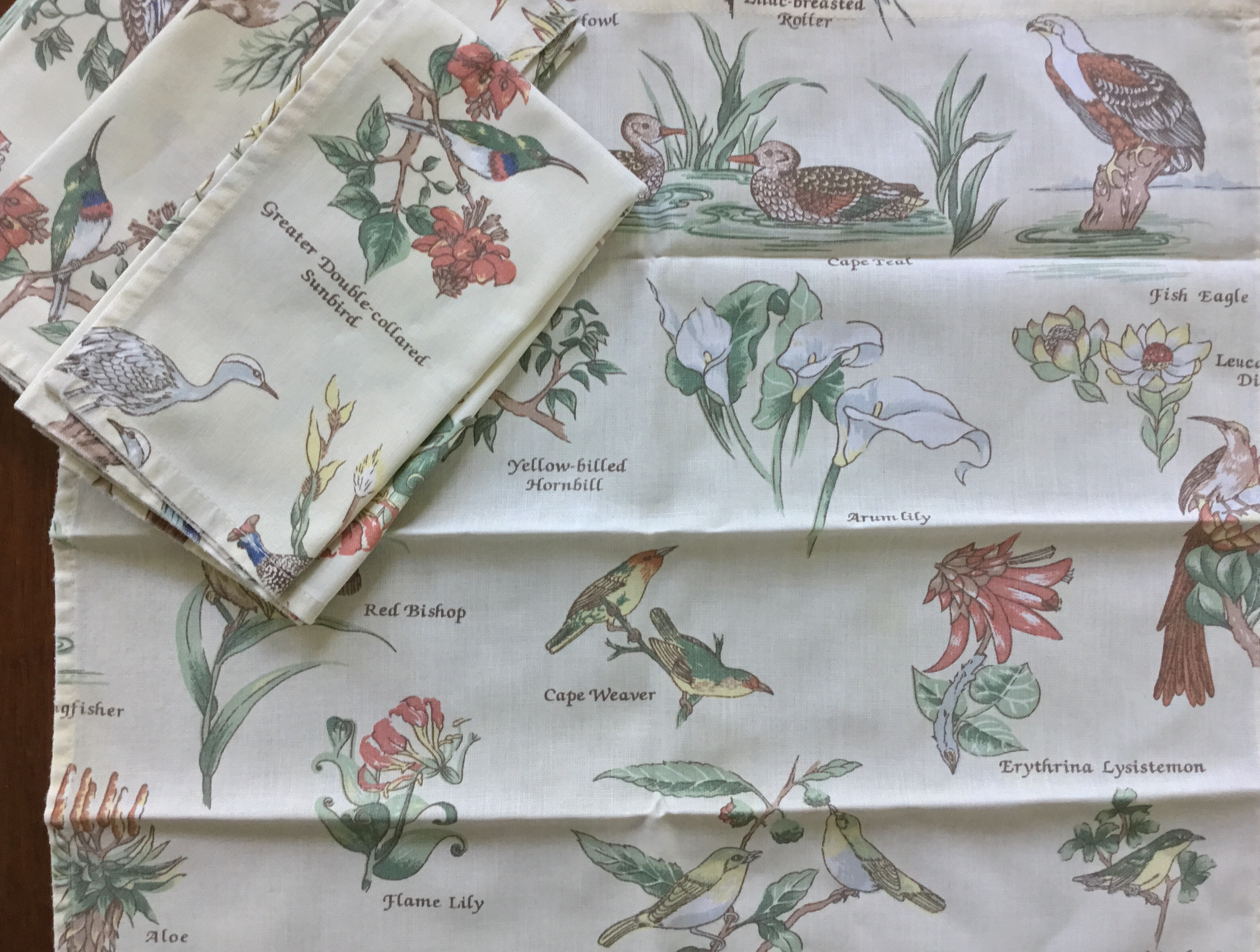 Bird Napkins, Set of 4