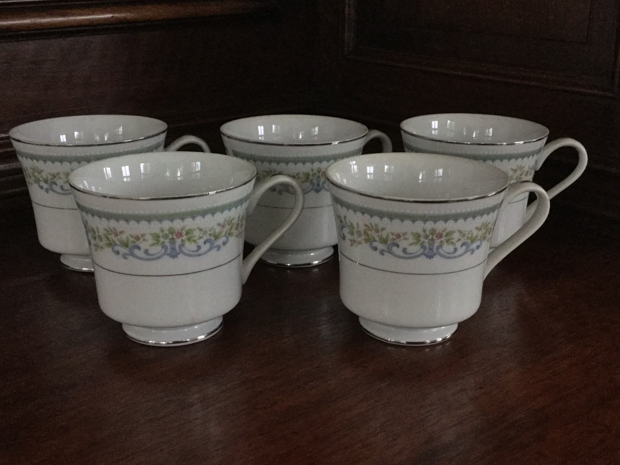 Royal Gallery Jardine Coffee Cups, Set of 5