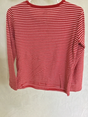 Old Navy Red And White Striped Long Sleeve T Shirt Size 5t