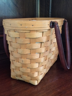 Longaberger Boardwalk Basket With Fabric Liner And Plastic