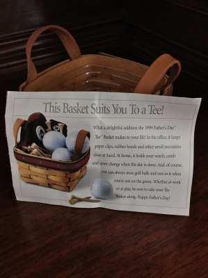 Longaberger 1999 Father S Day Tee Basket With Plastic
