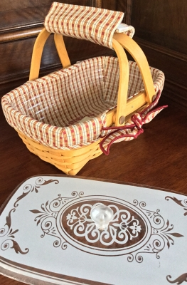 Longaberger Homestead Memories Basket With Lid Fabric
