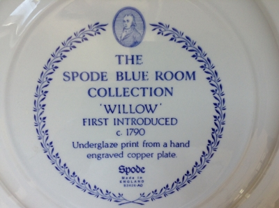 Spode Willow Plate