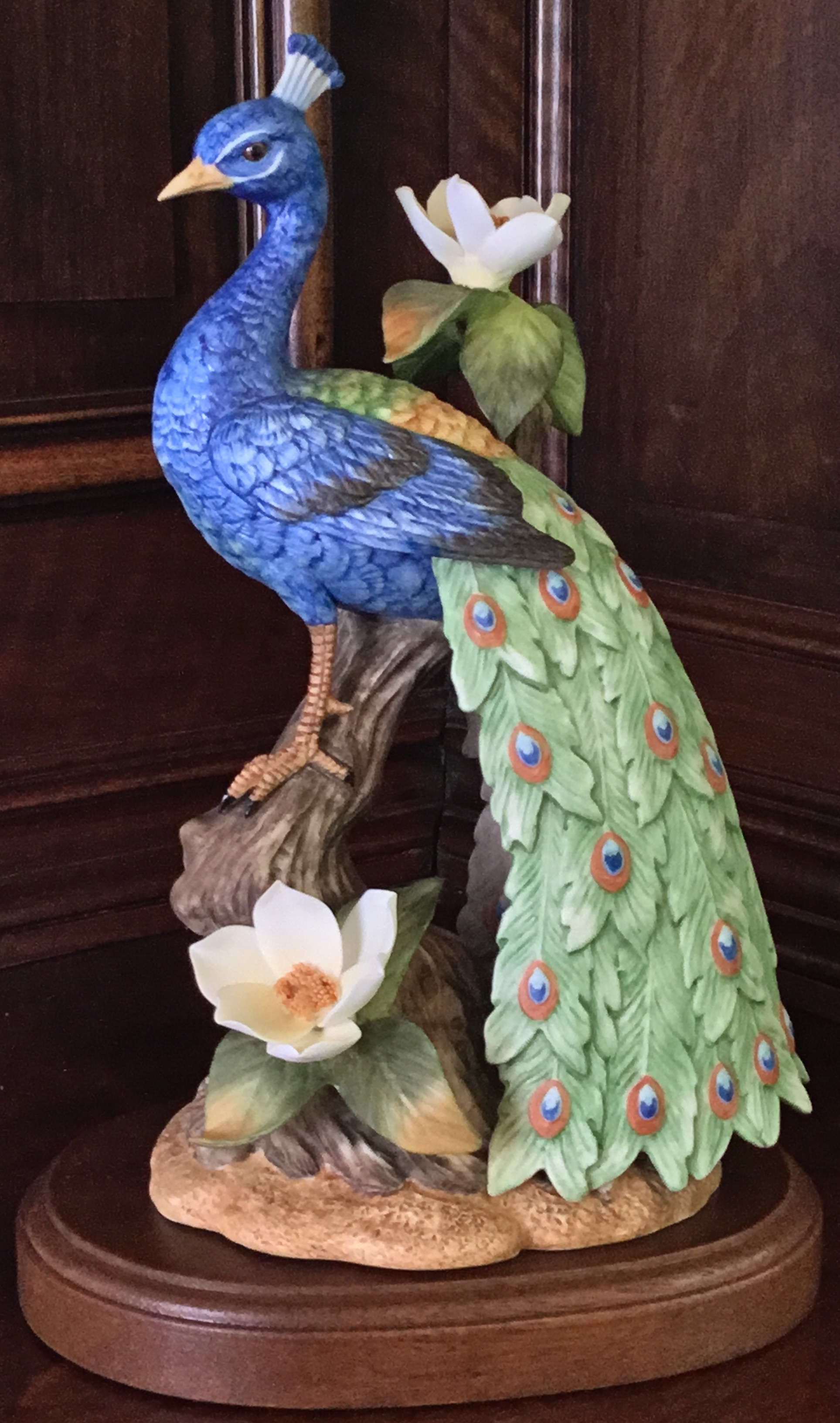 Gallery Birds by Gorham, Peacock with Magnolia