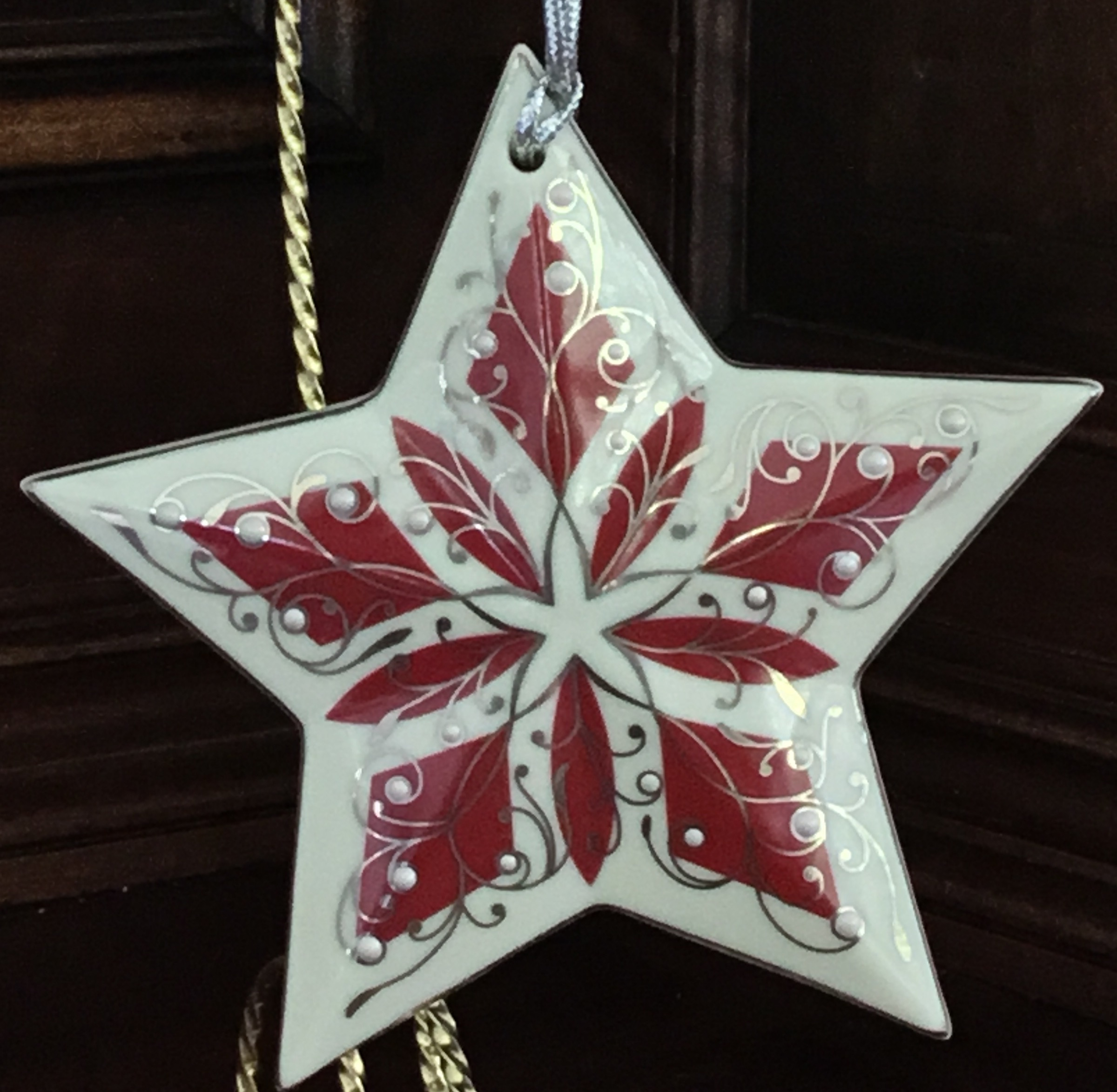 Lenox China Jewels Ruby Star Ornament