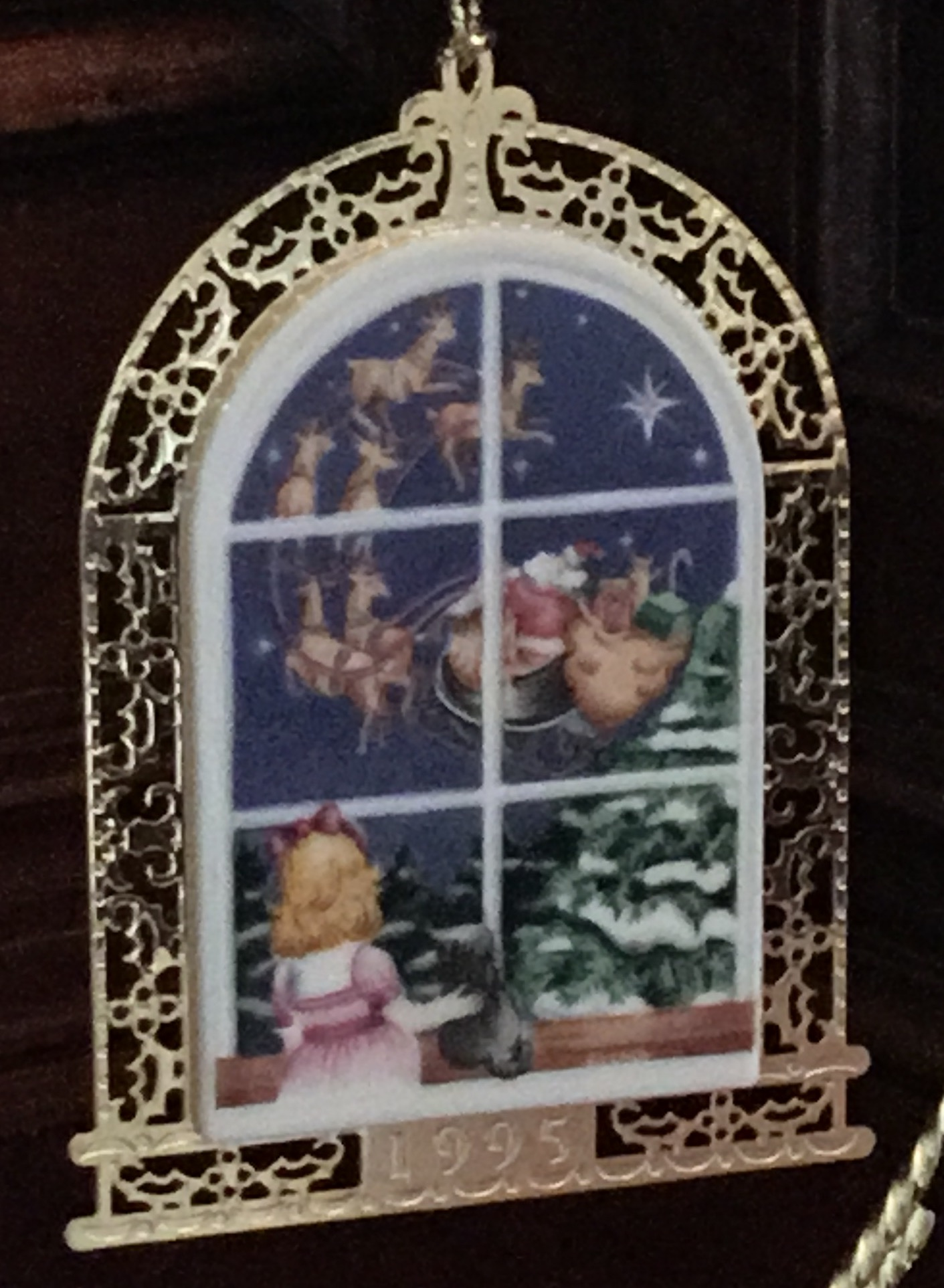 Lenox 1995 Christmas Windows Ornament
