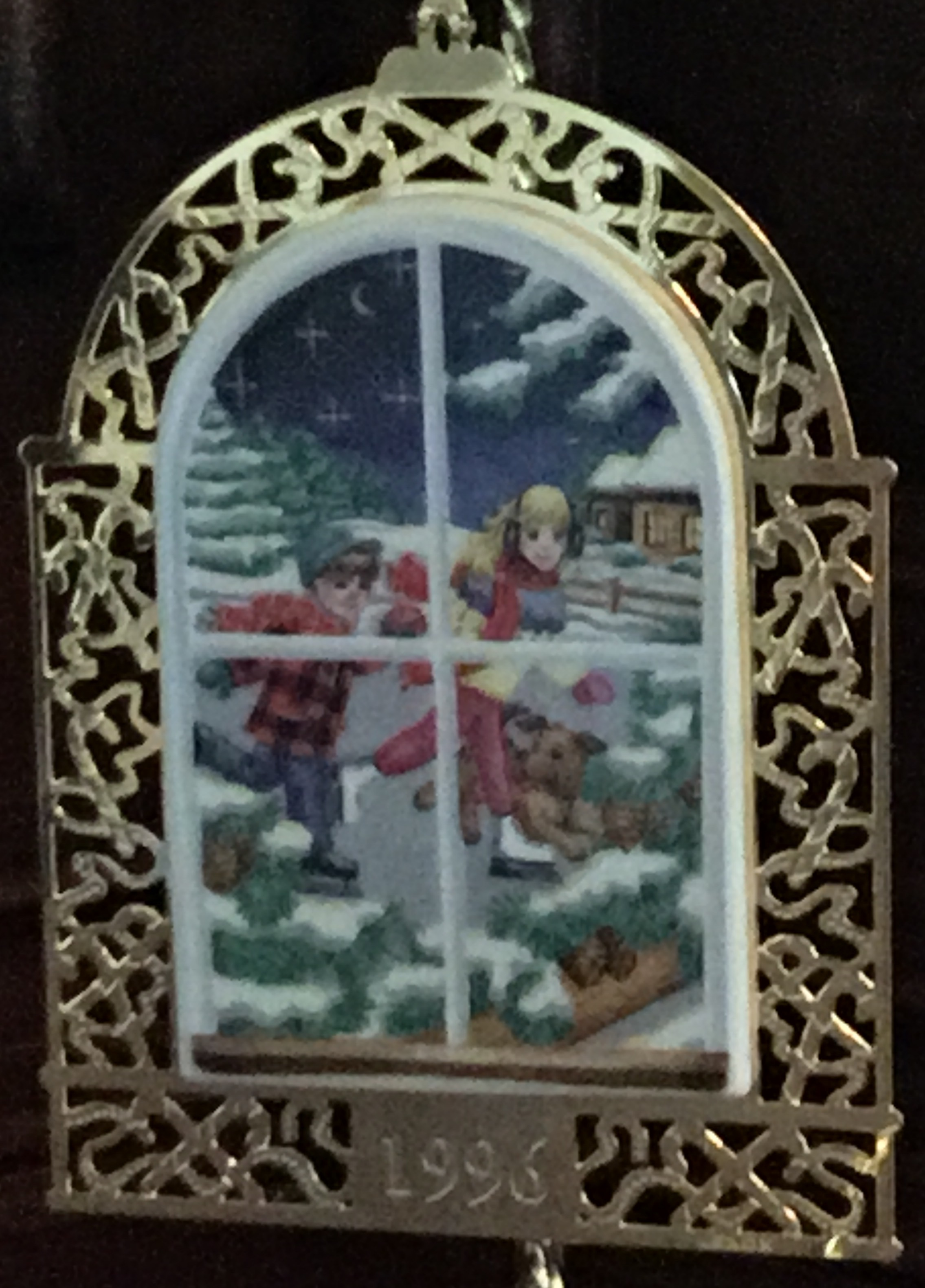 Lenox 1996 Christmas Windows Ornament