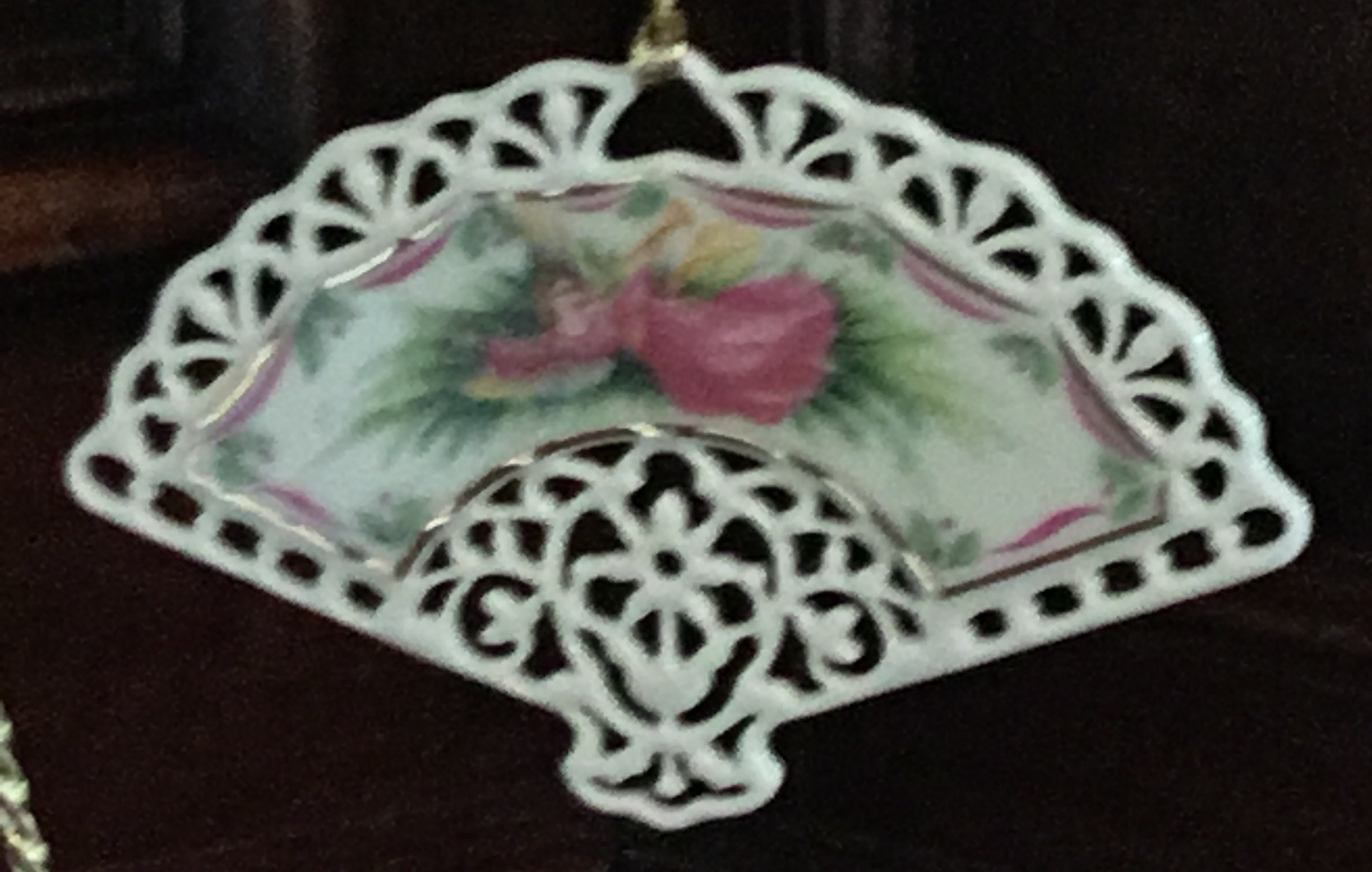 Lenox Victorian Lace Collection Fan Ornament