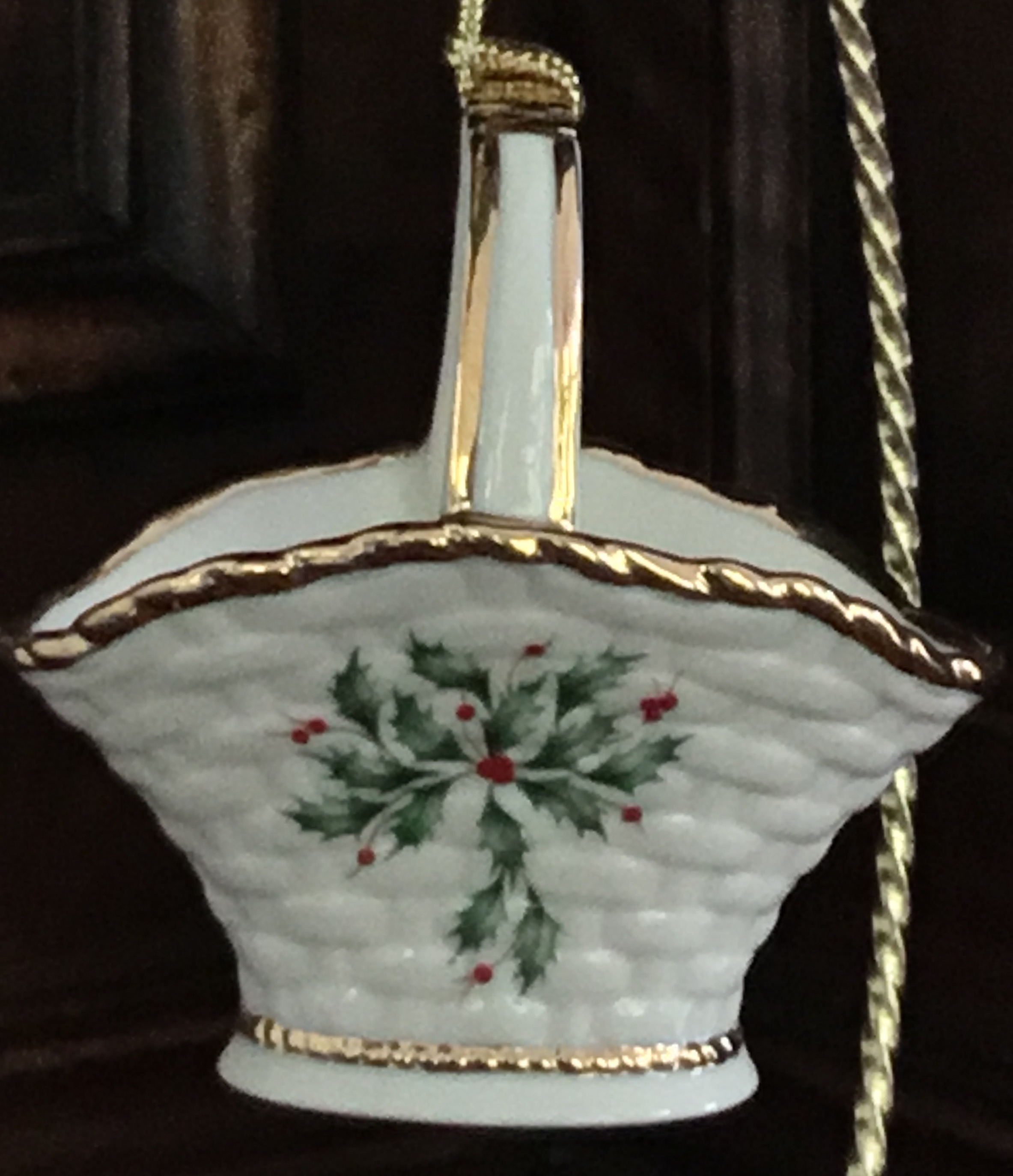Lenox Holiday Basket Ornament