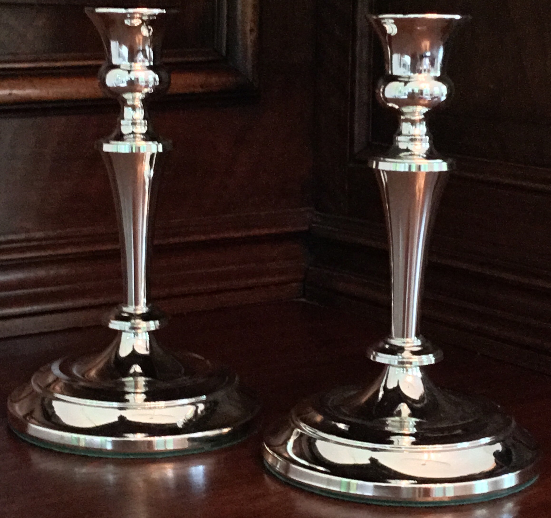 Tarnish-Resistant Candle Holders, Set of 2