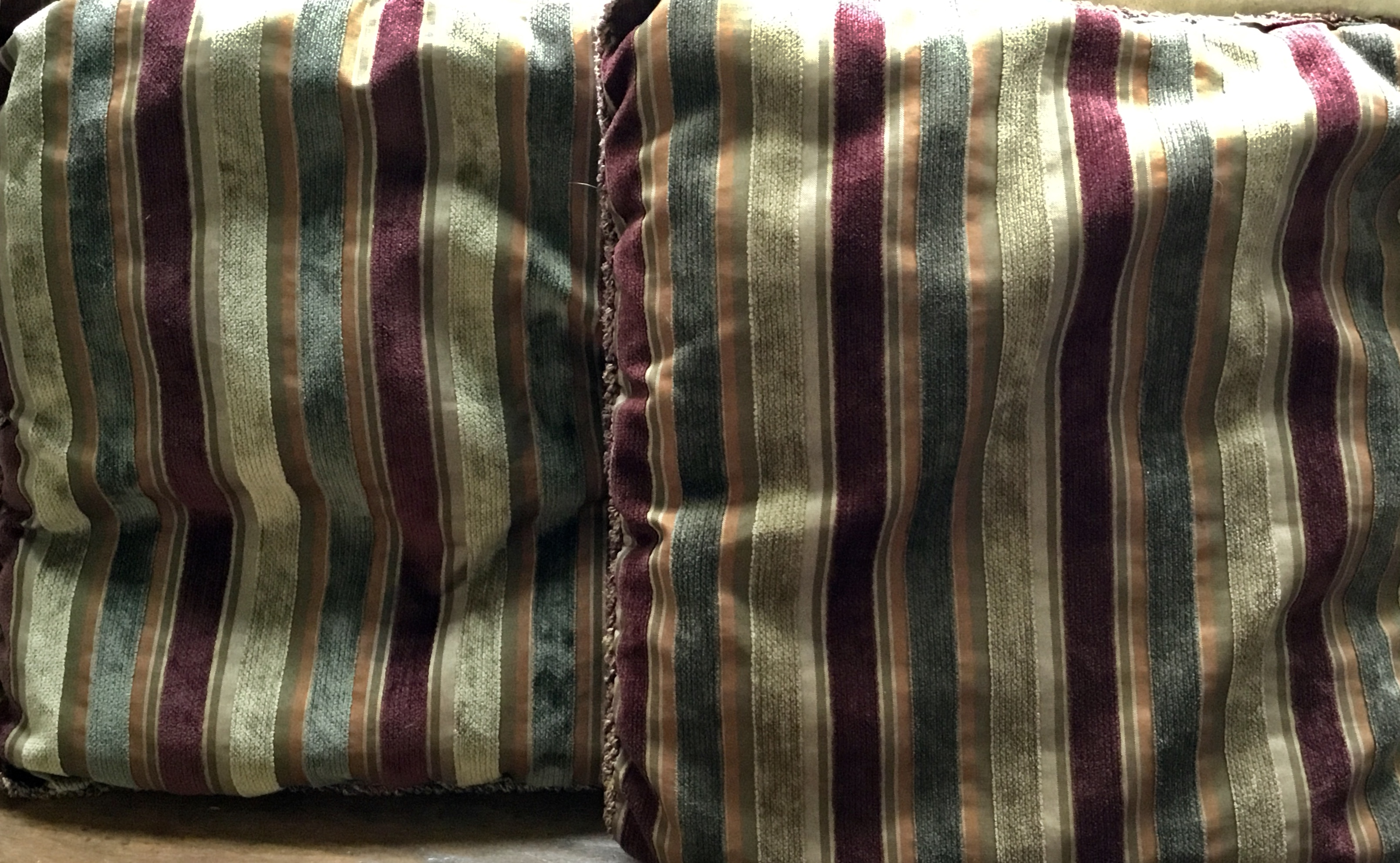 Purple/Olive Pillows, Set of 2