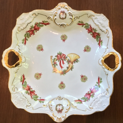 Holiday French Horn Serving Plate