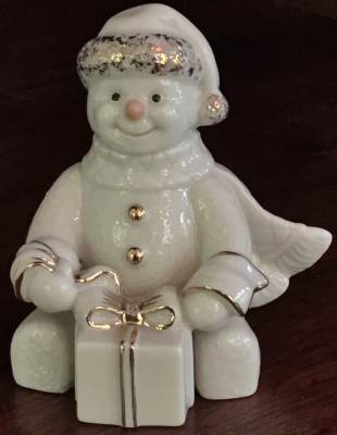 Lenox Snowman with Gift