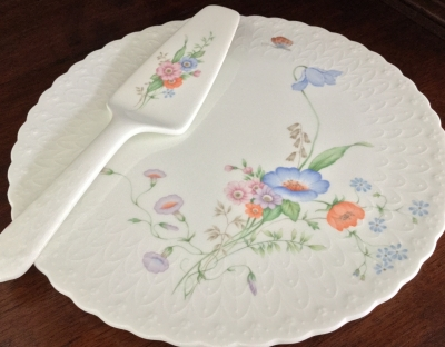 Mikasa Something Blue Cake Platter and Server