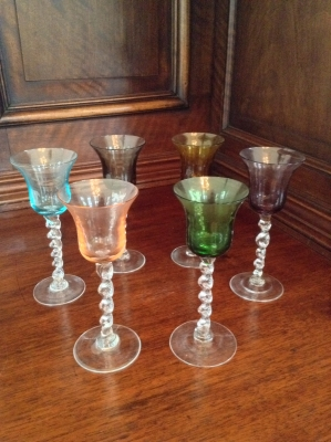 Colored Liqueur Glasses, Set of 6
