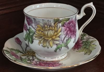 Royal Albert Chrysanthemum Teacup and Saucer