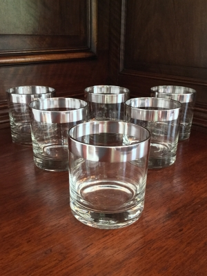 Vintage Tumblers with Trim, Set of 6