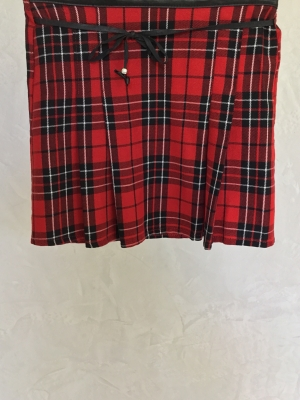 Expressions Separates Red Plaid Skirt, Size 4-5