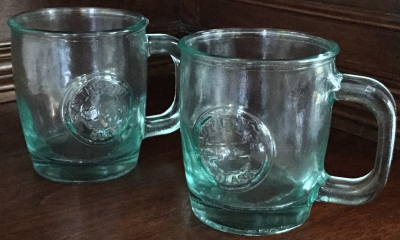 Recycled Glass Mugs, Set of 2
