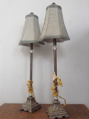 Pair of Tall Lamps